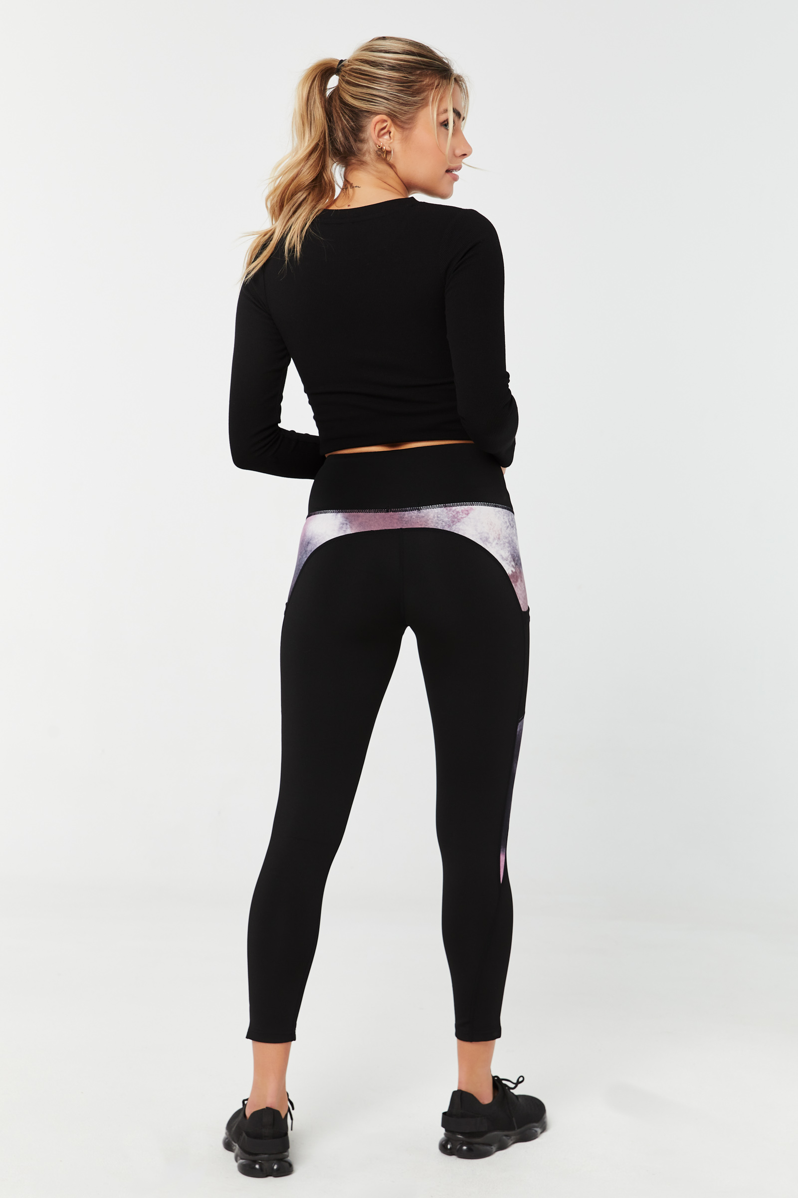 Performance Leggings with Tie-Dye Inserts