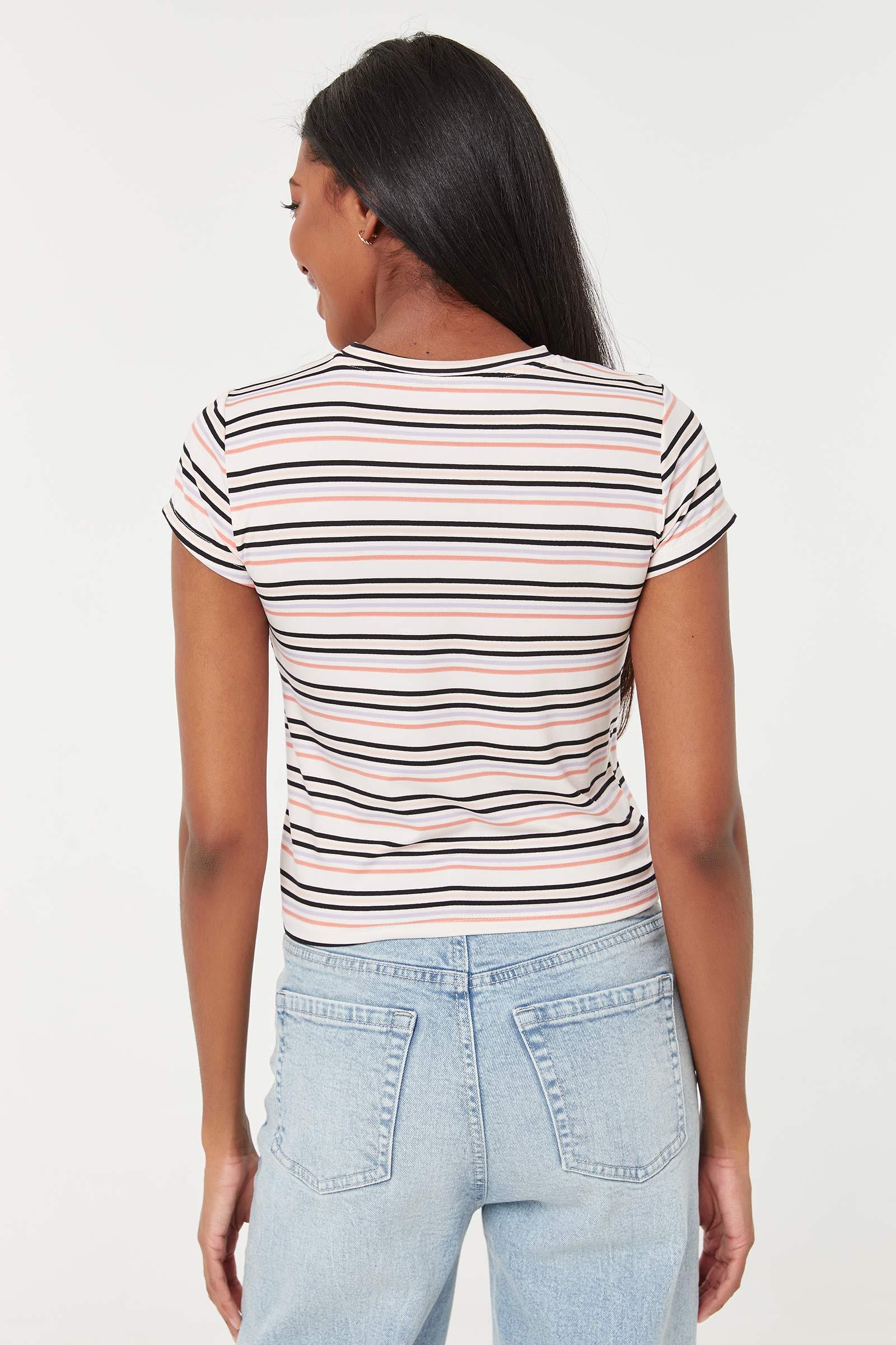 T-shirt rayé doux