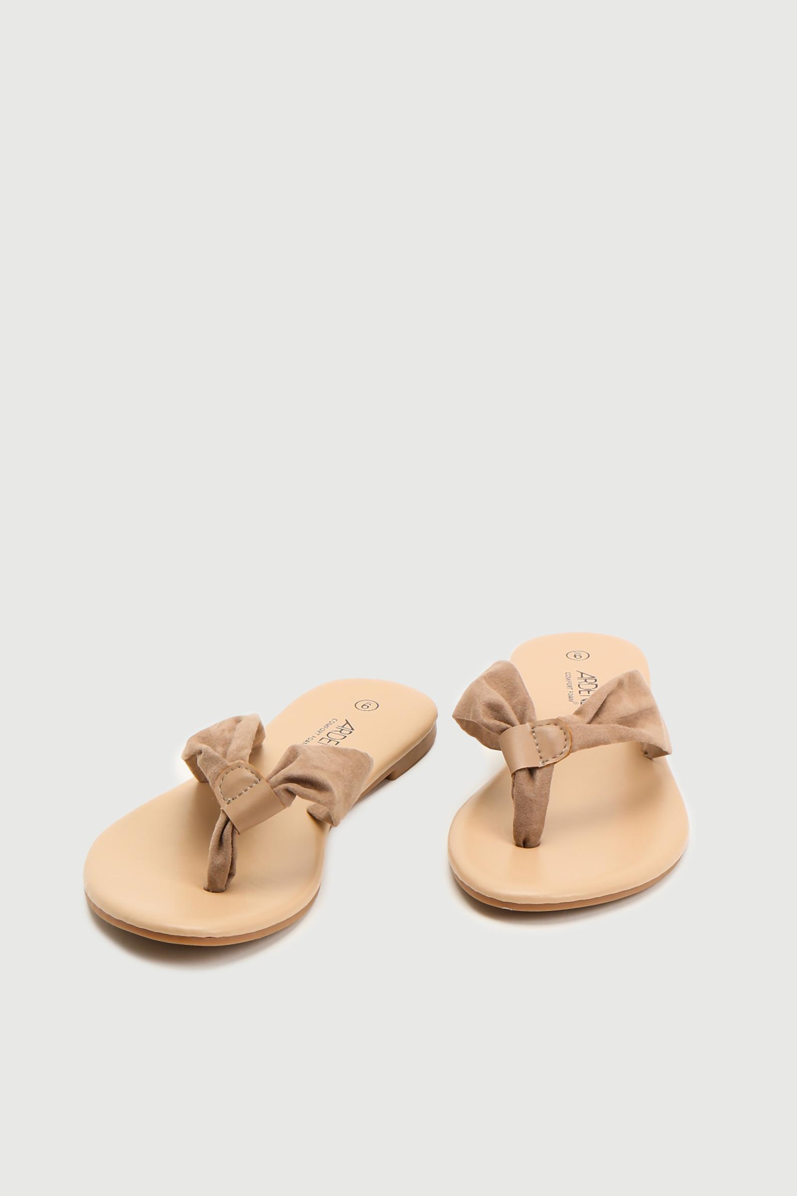 Faux Suede Strap Flip-Flops