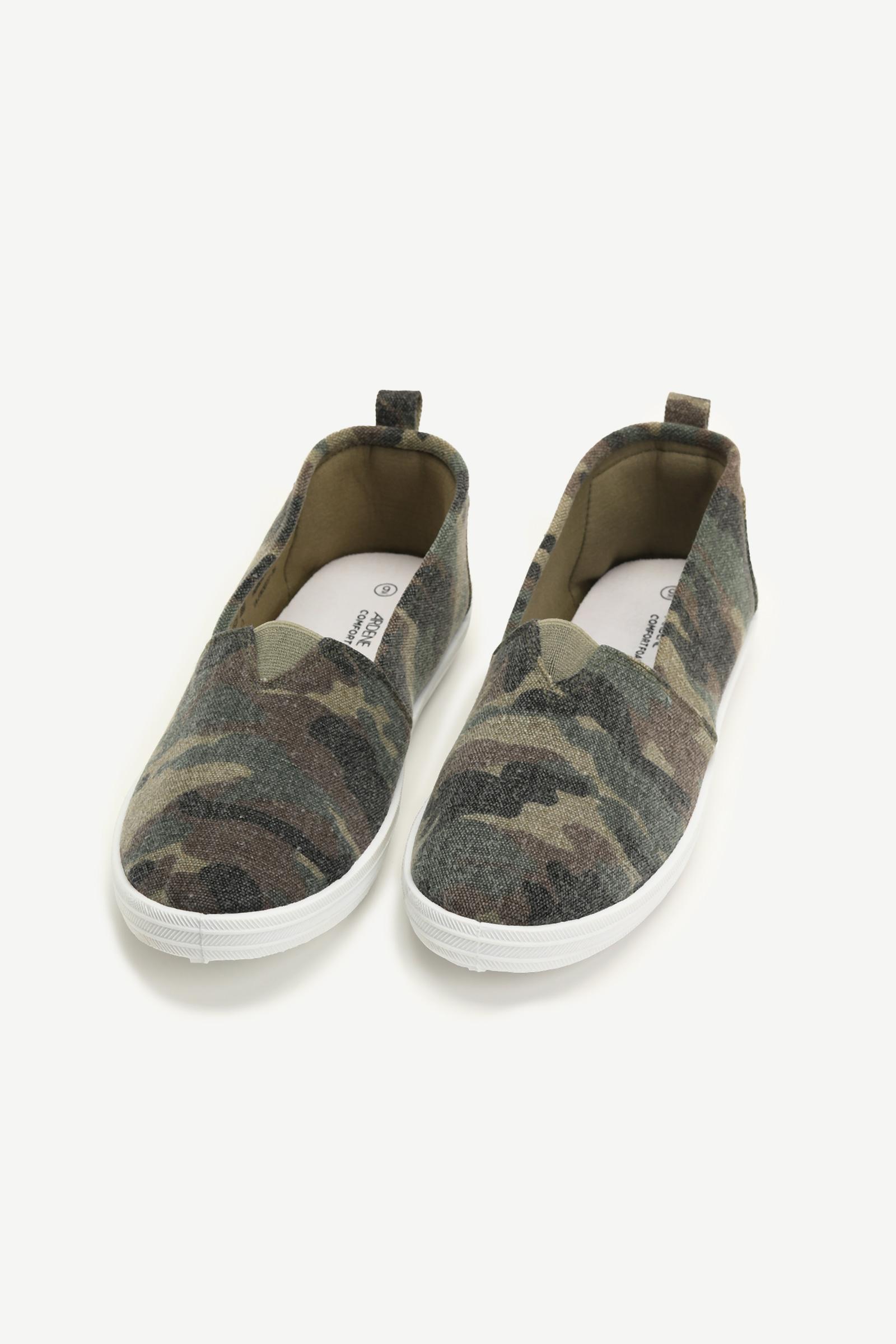 Basic Camo Slip-On Sneakers