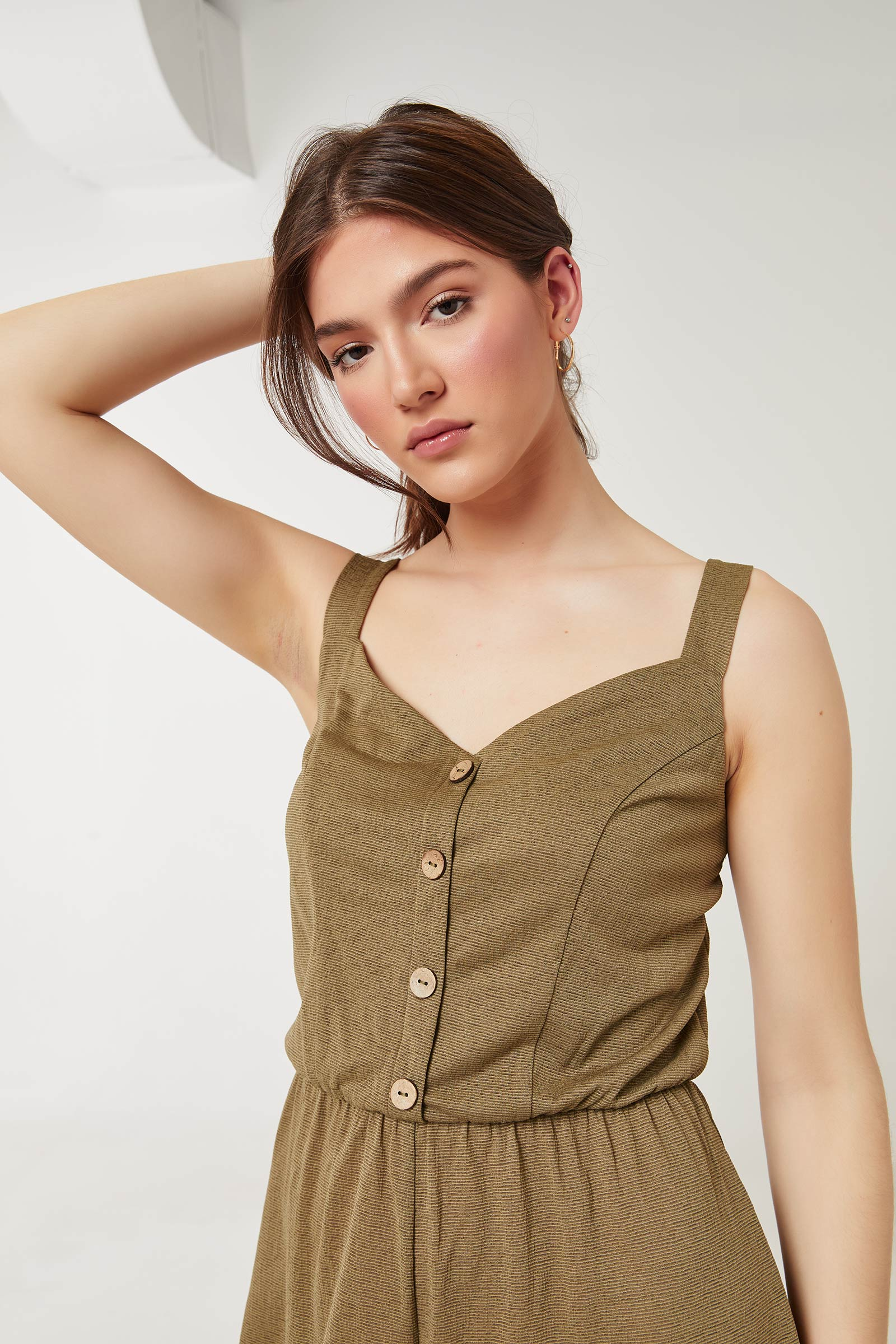 Knotted Back Romper