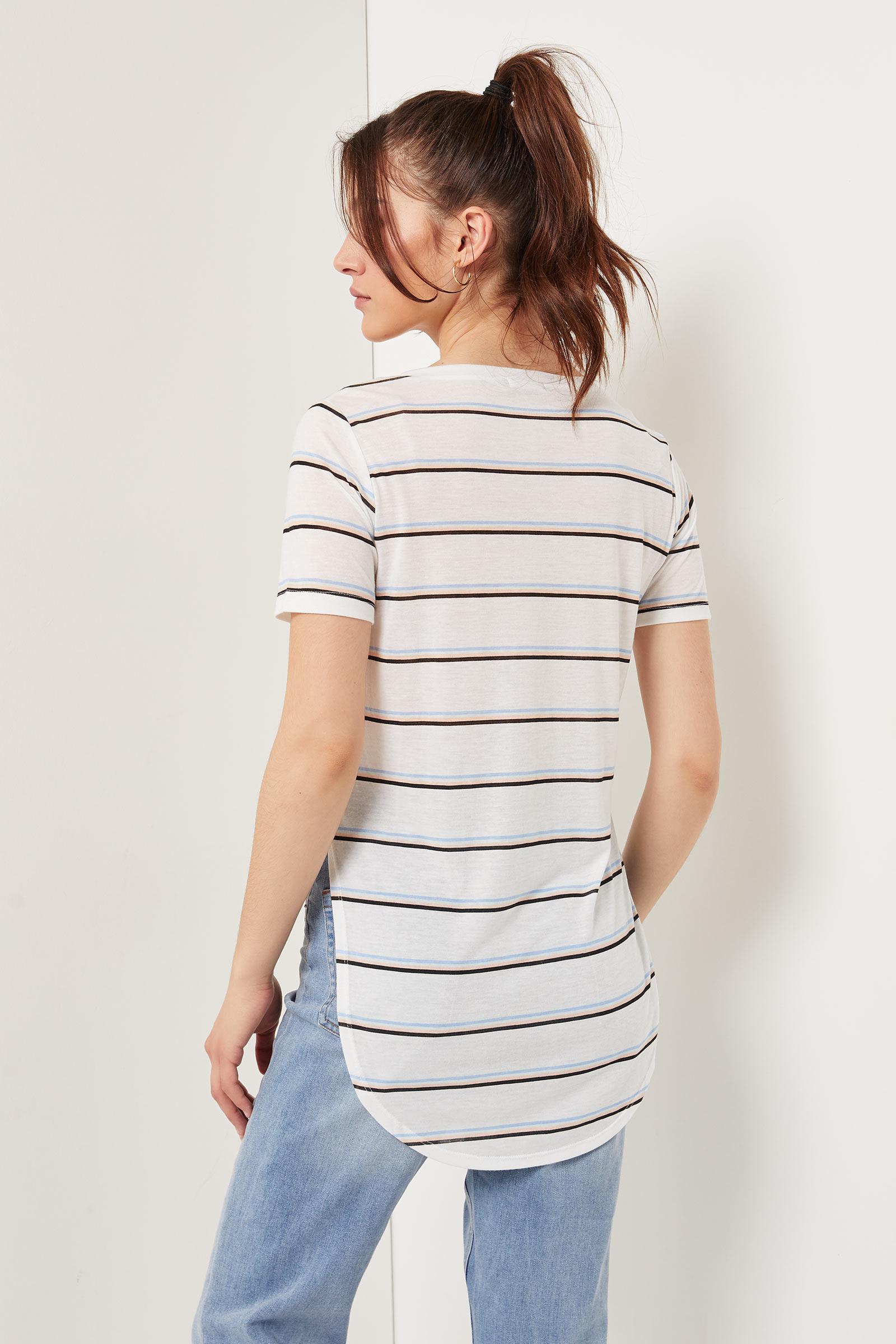 Striped Long Tunic Tee