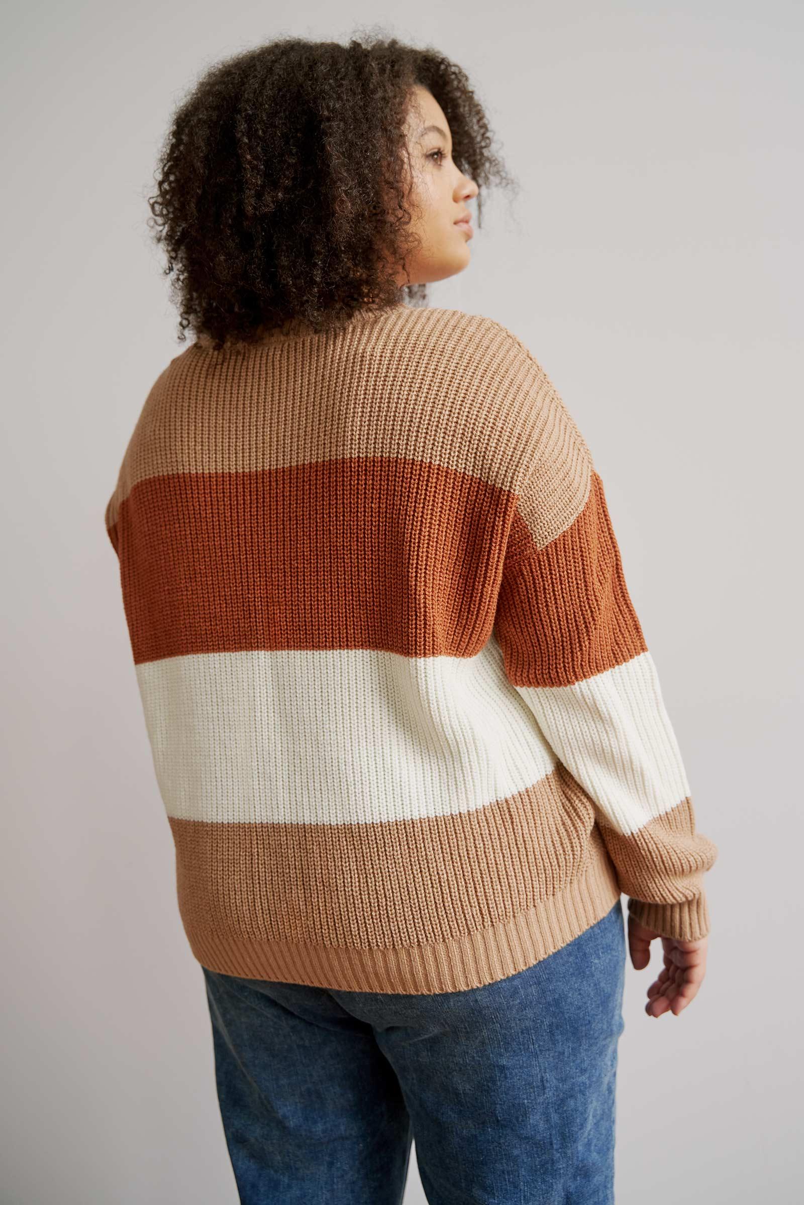 Short Colorblock Sweater