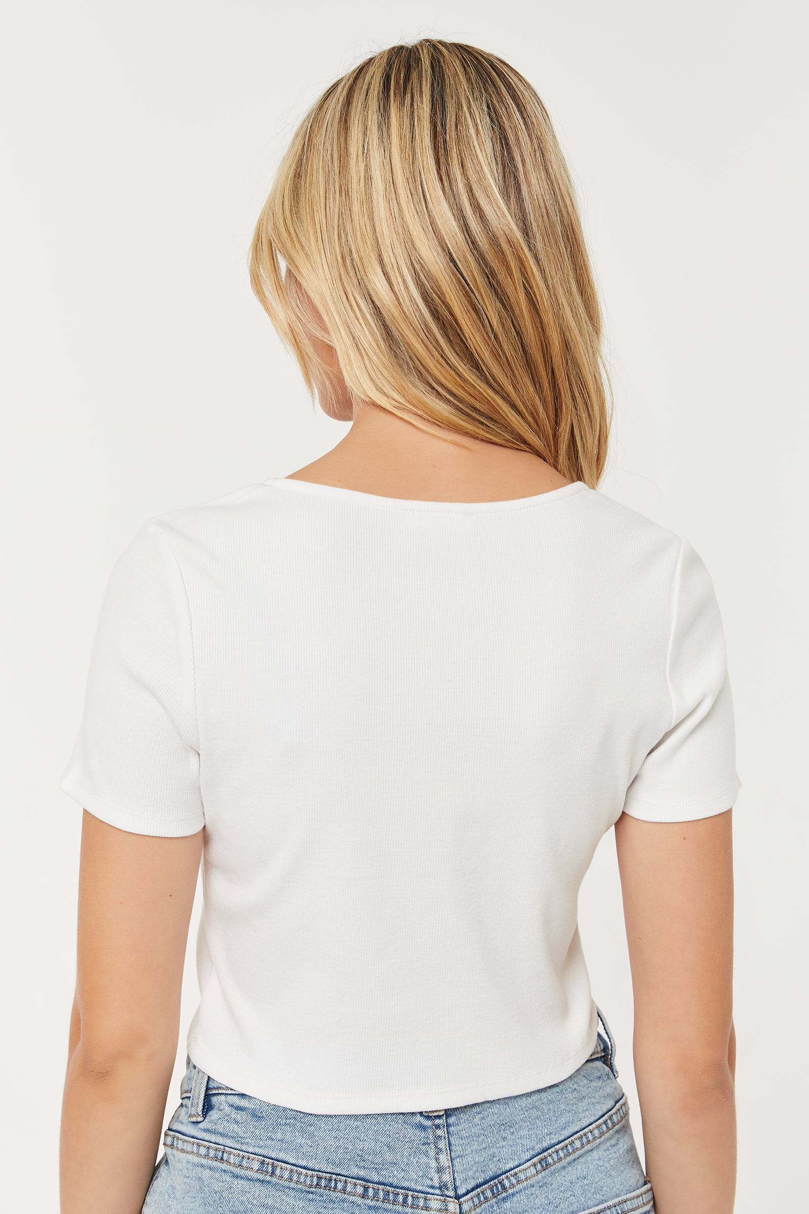 Ultra Cropped Top with Ruched Drawsting
