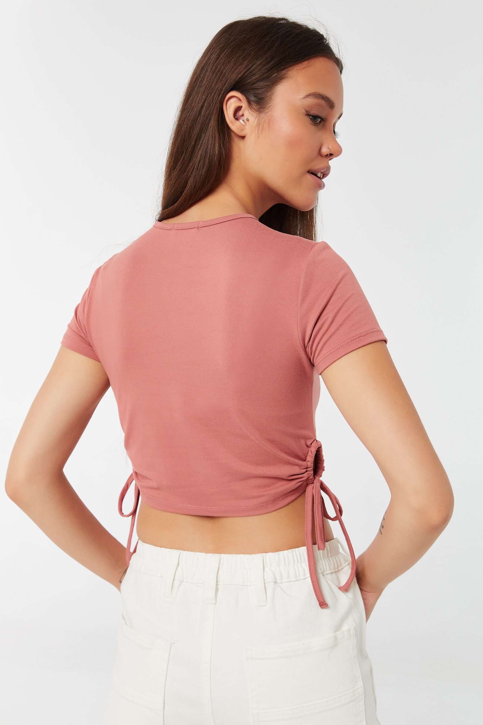 T-shirt court ruché