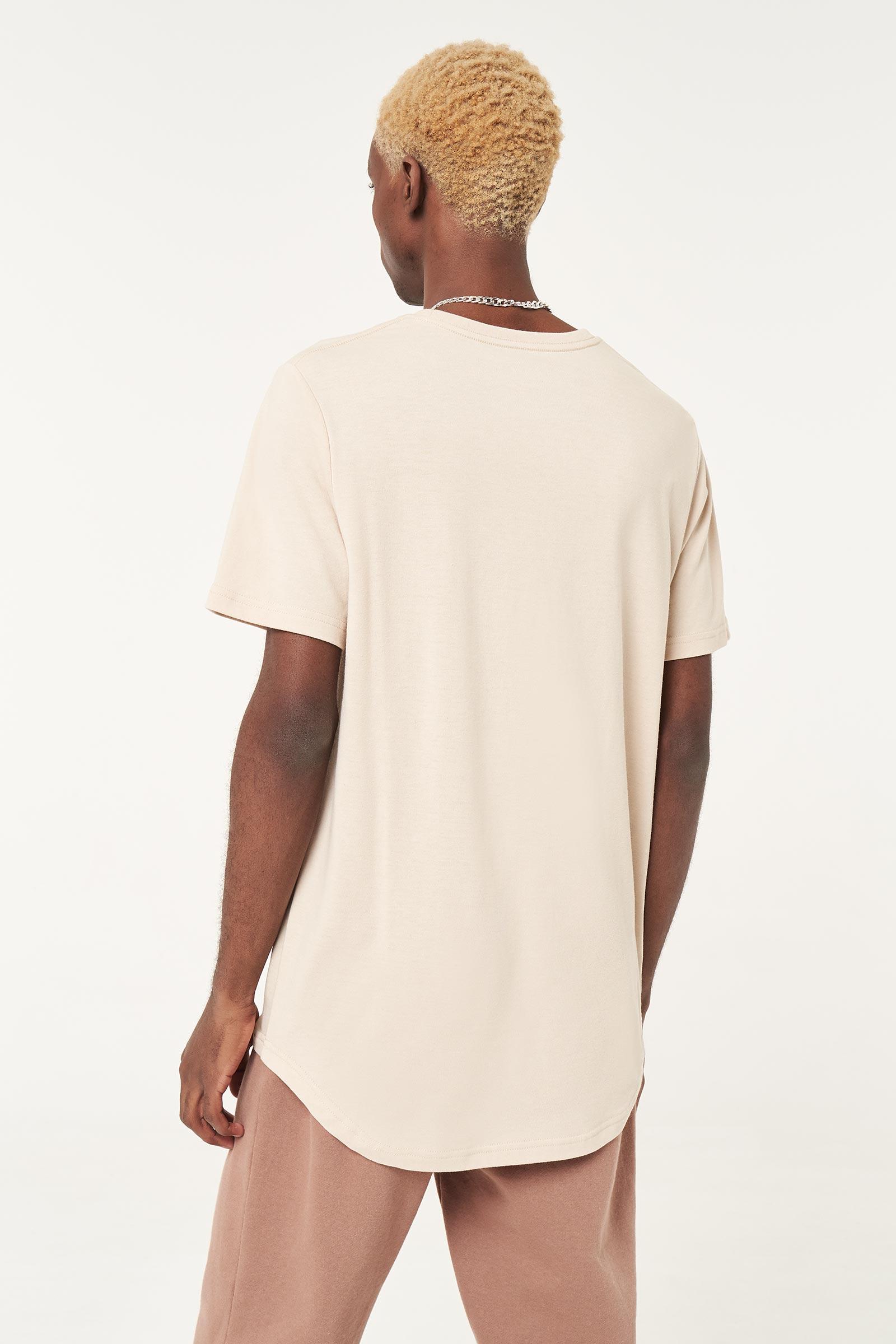 T-shirt à ourlet rond pour hommes
