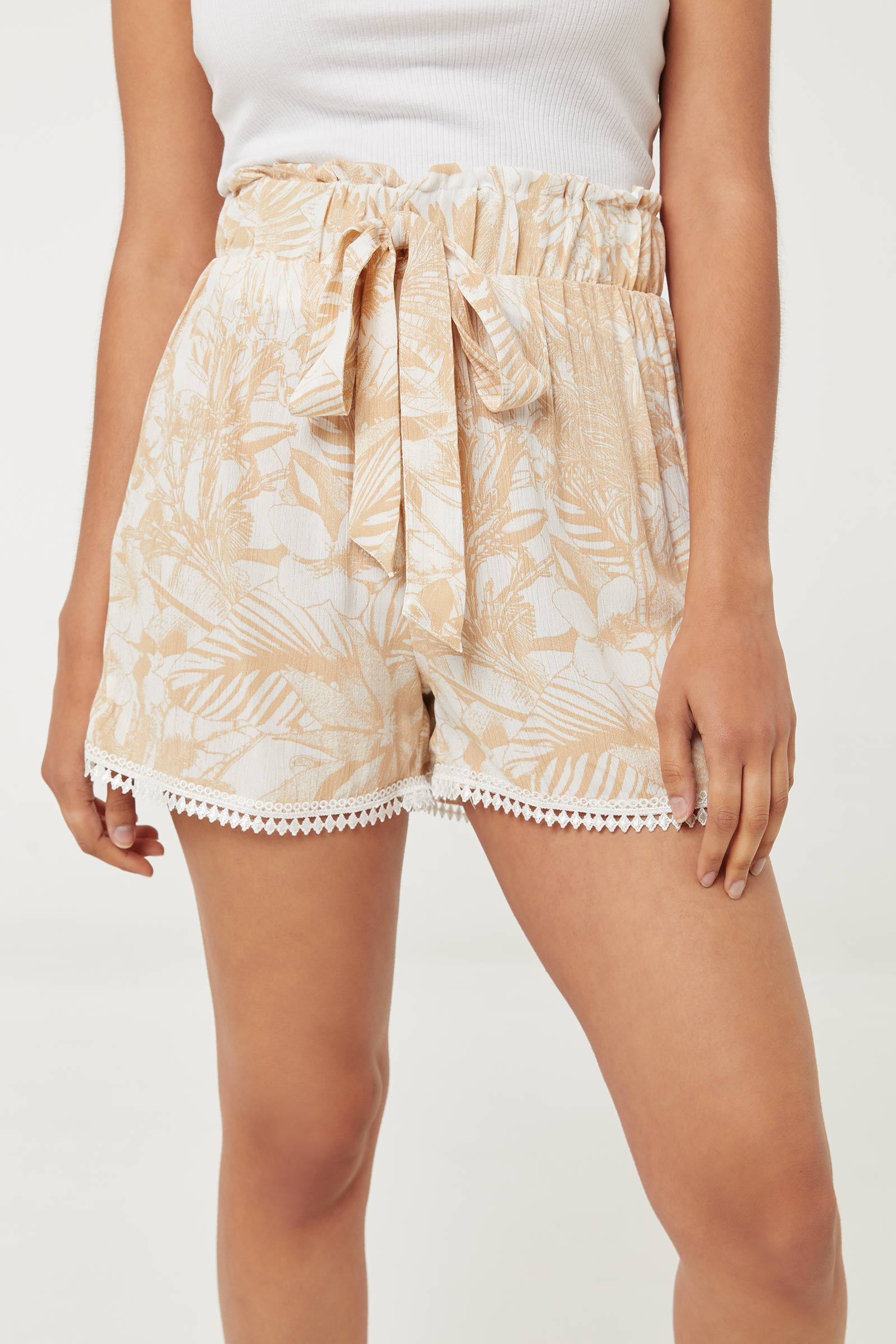 Paper Bag Shorts with Crochet