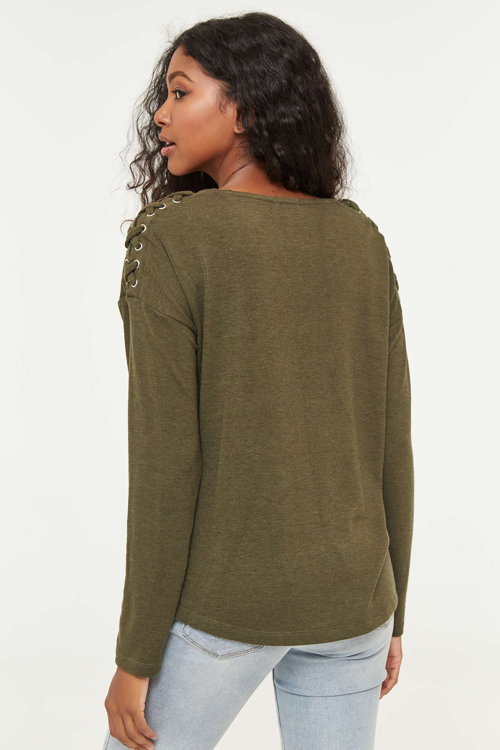 Laced Sleeve Top