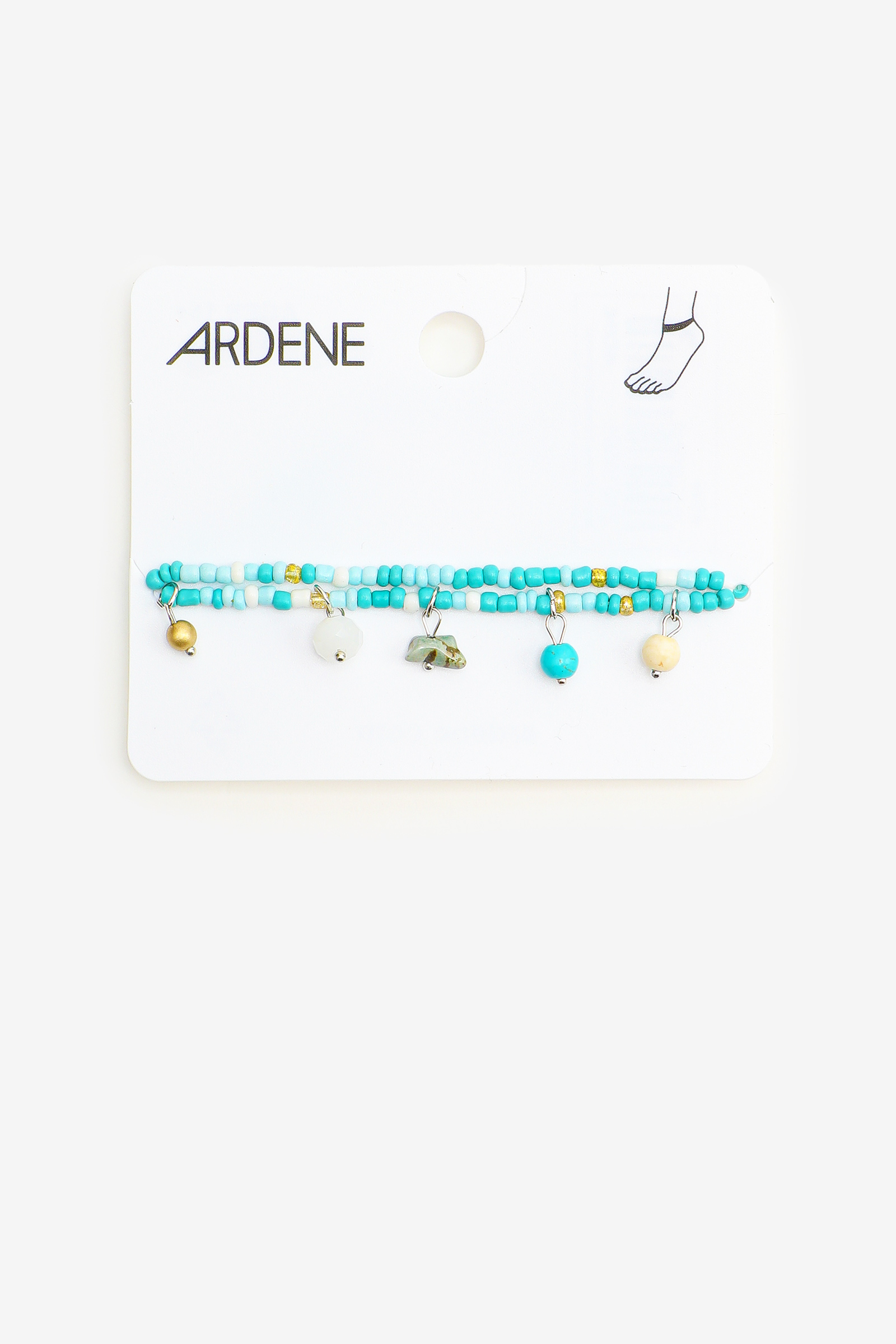 Blue Mix Beaded Anklets