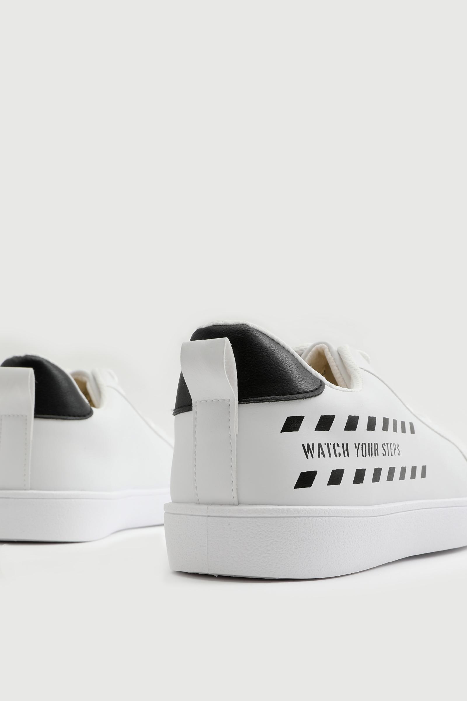 Slogan Printed Sneakers