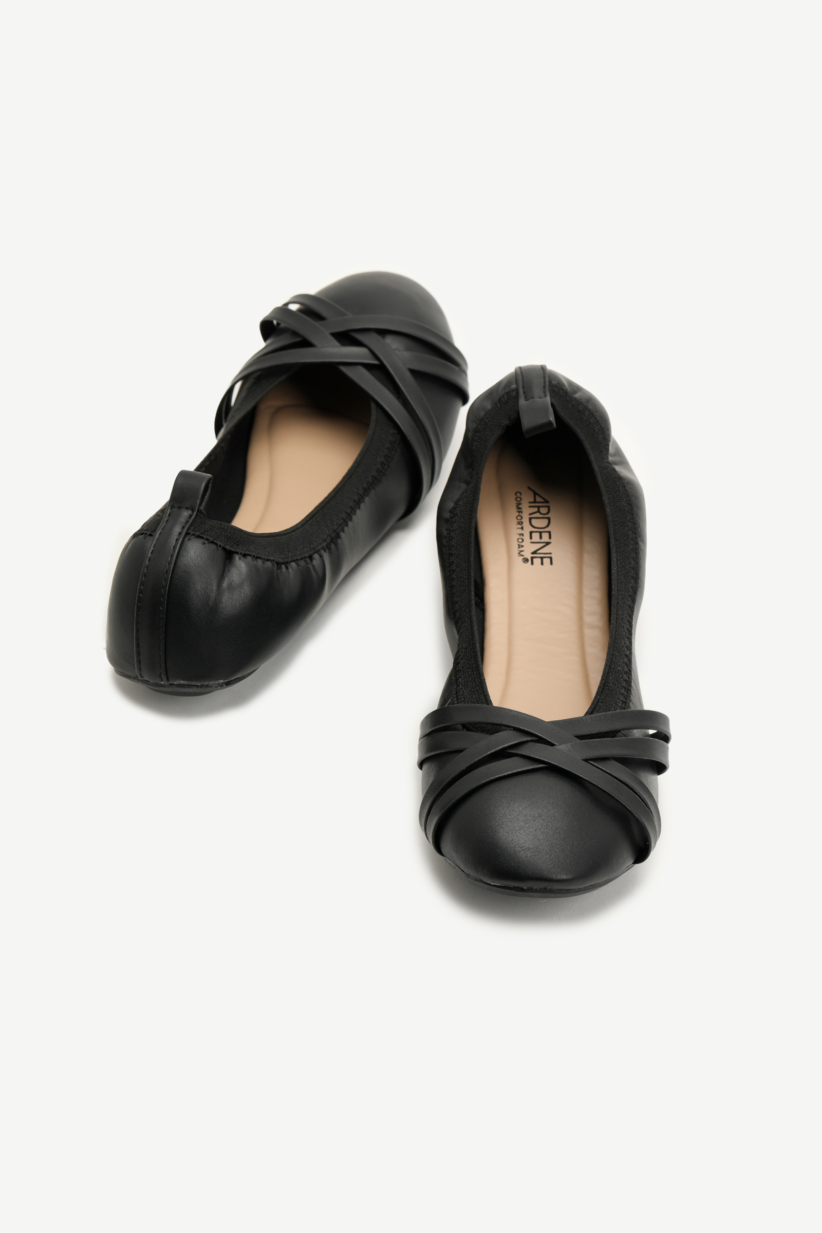 Strappy Faux Leather Flats