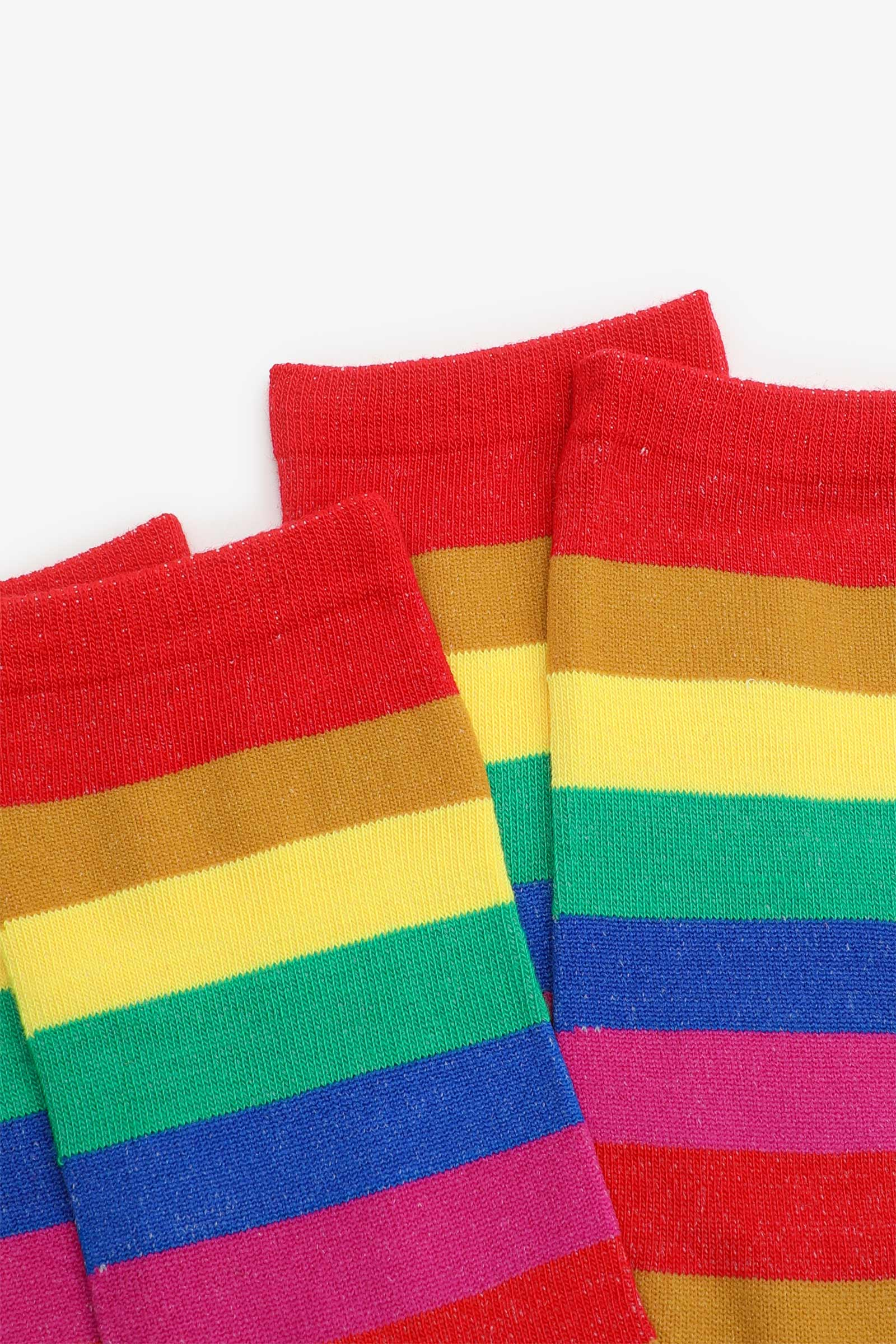 Chaussettes à rayures arc-en-ciel
