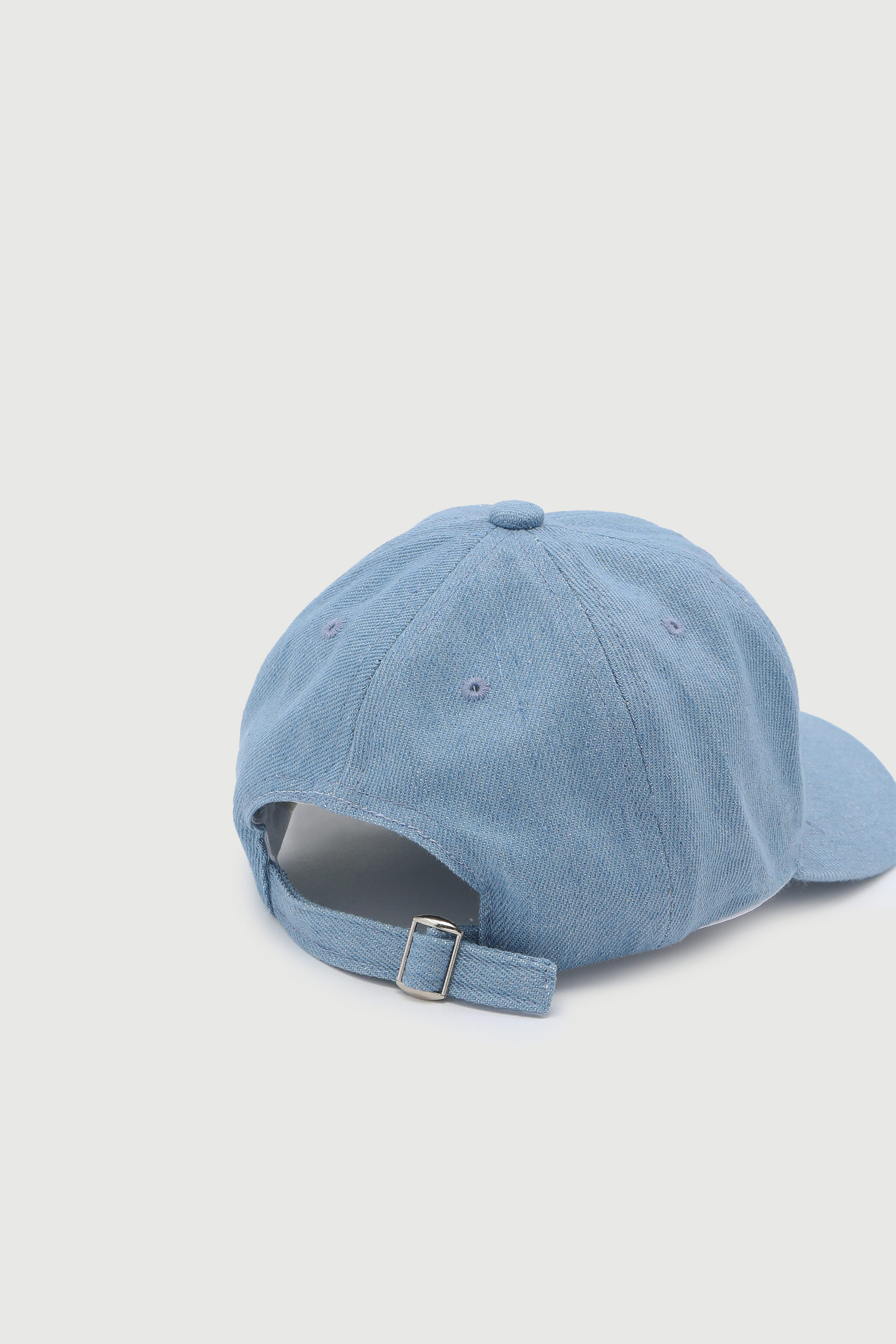 Baseball Cap with Flower Embroidery