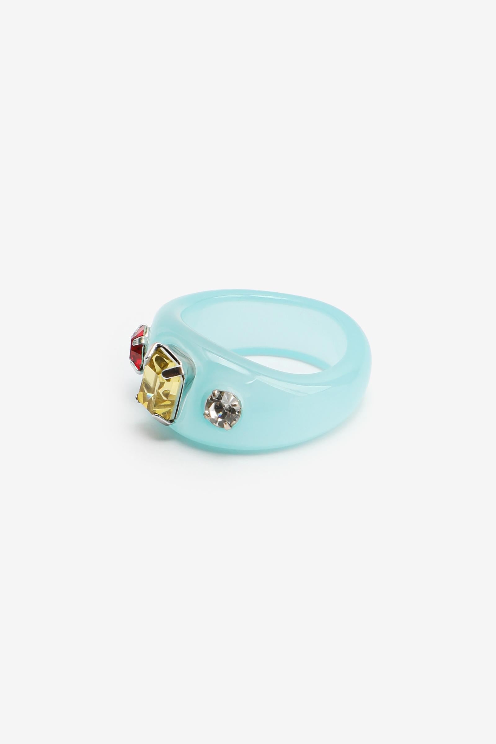 3-Stone Plastic Statement Ring