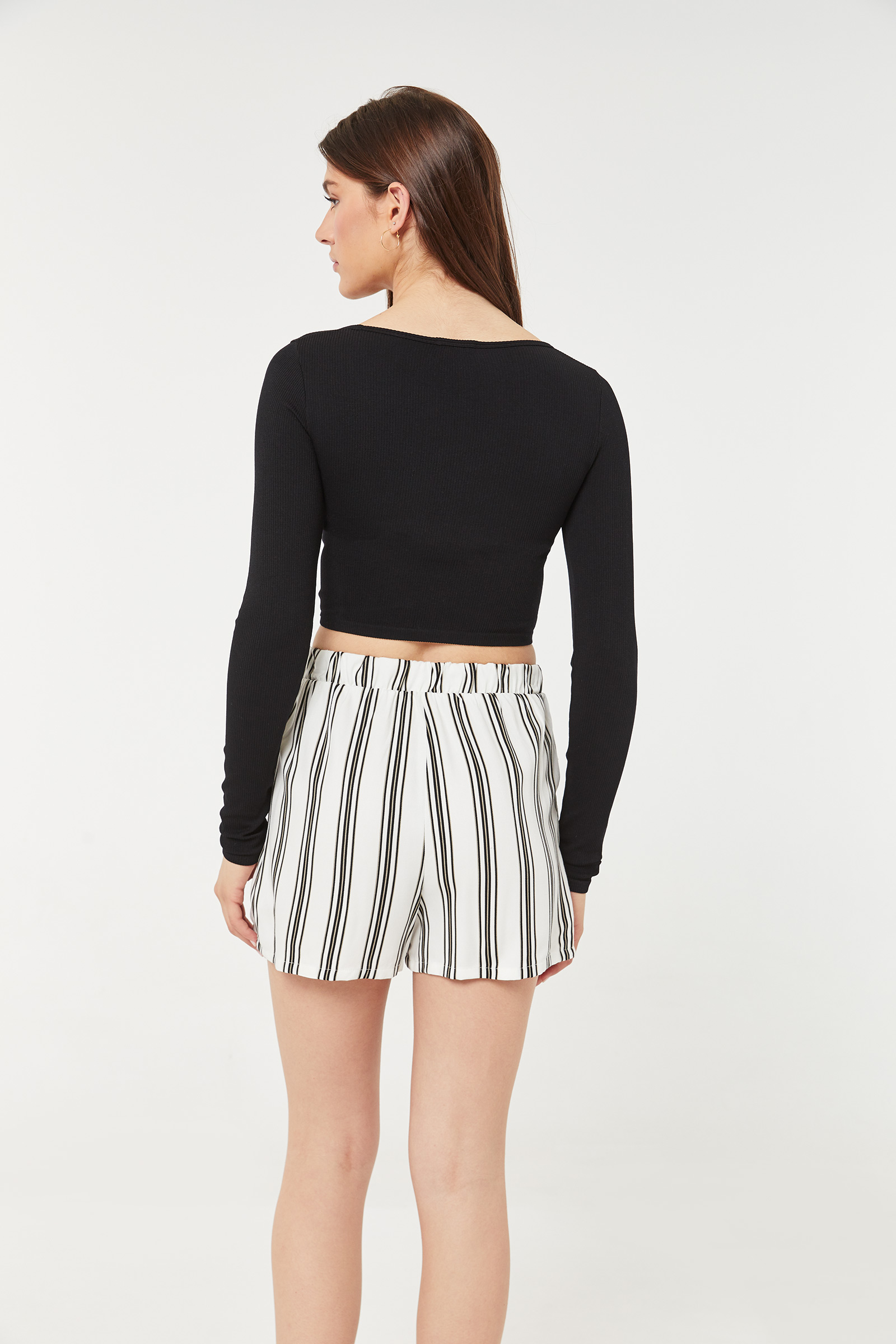 Striped Sash Shorts