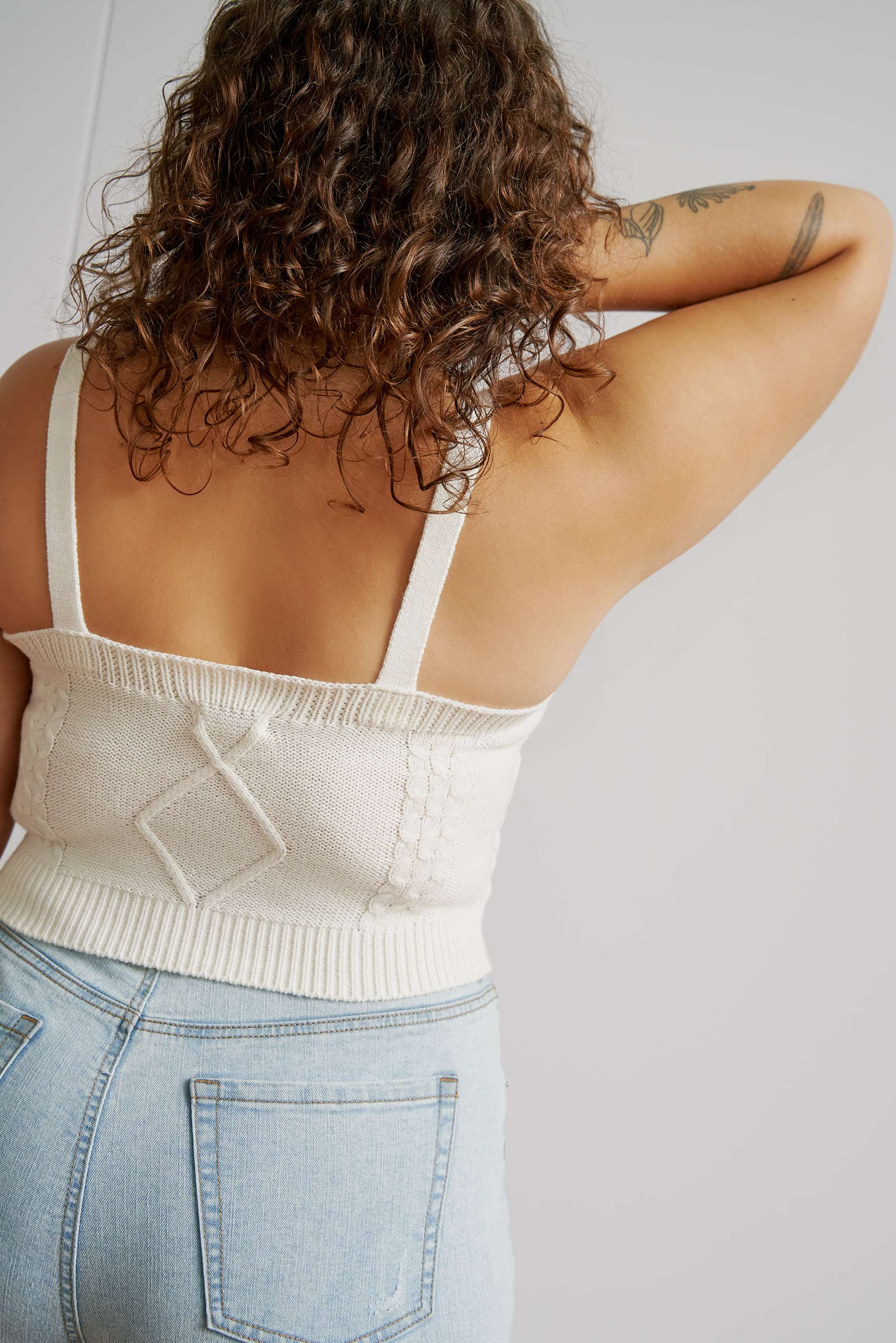 Cable Knit Tube Top