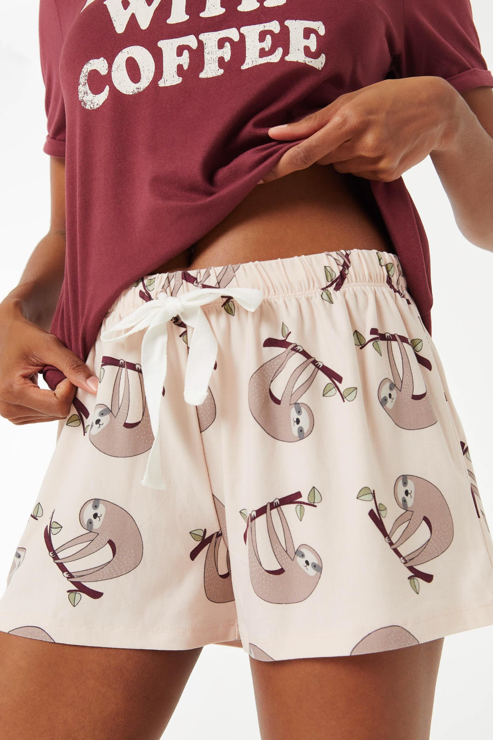 Sloth PJ Shorts