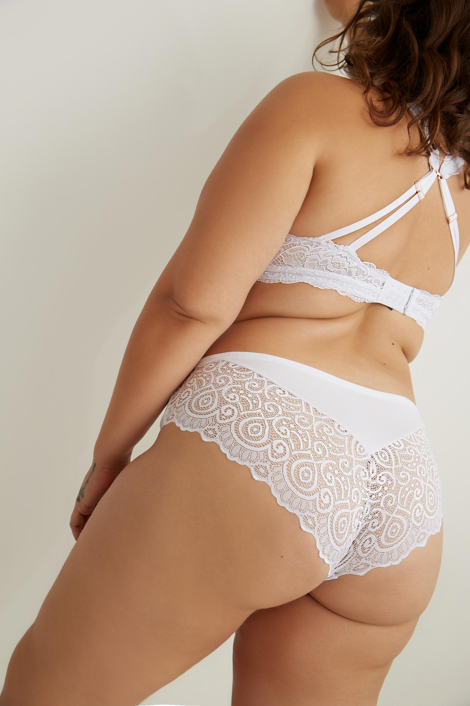 Invisible Cheeky Panty with Lace Back