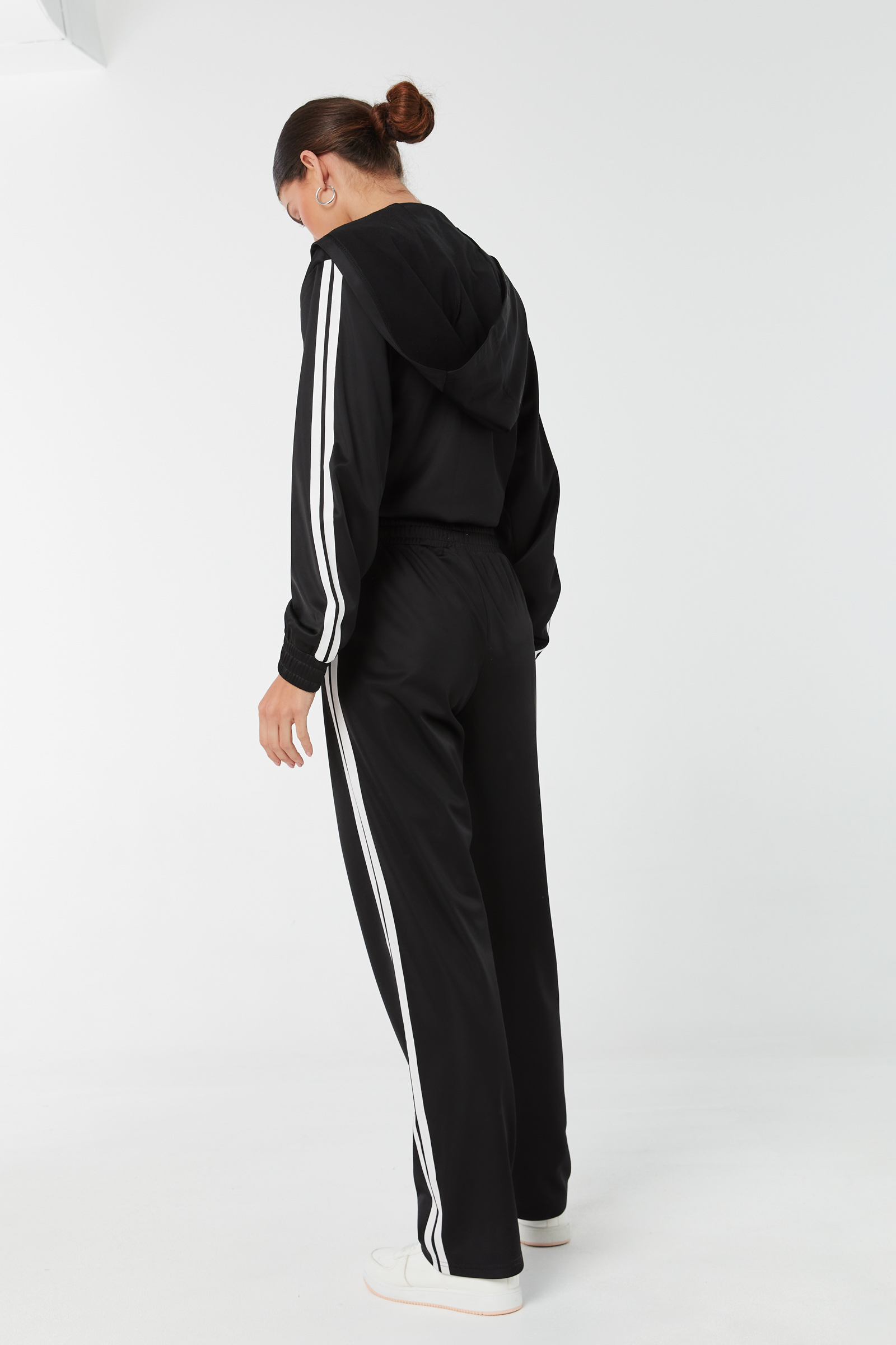 Track Pants with Contrast Stripes
