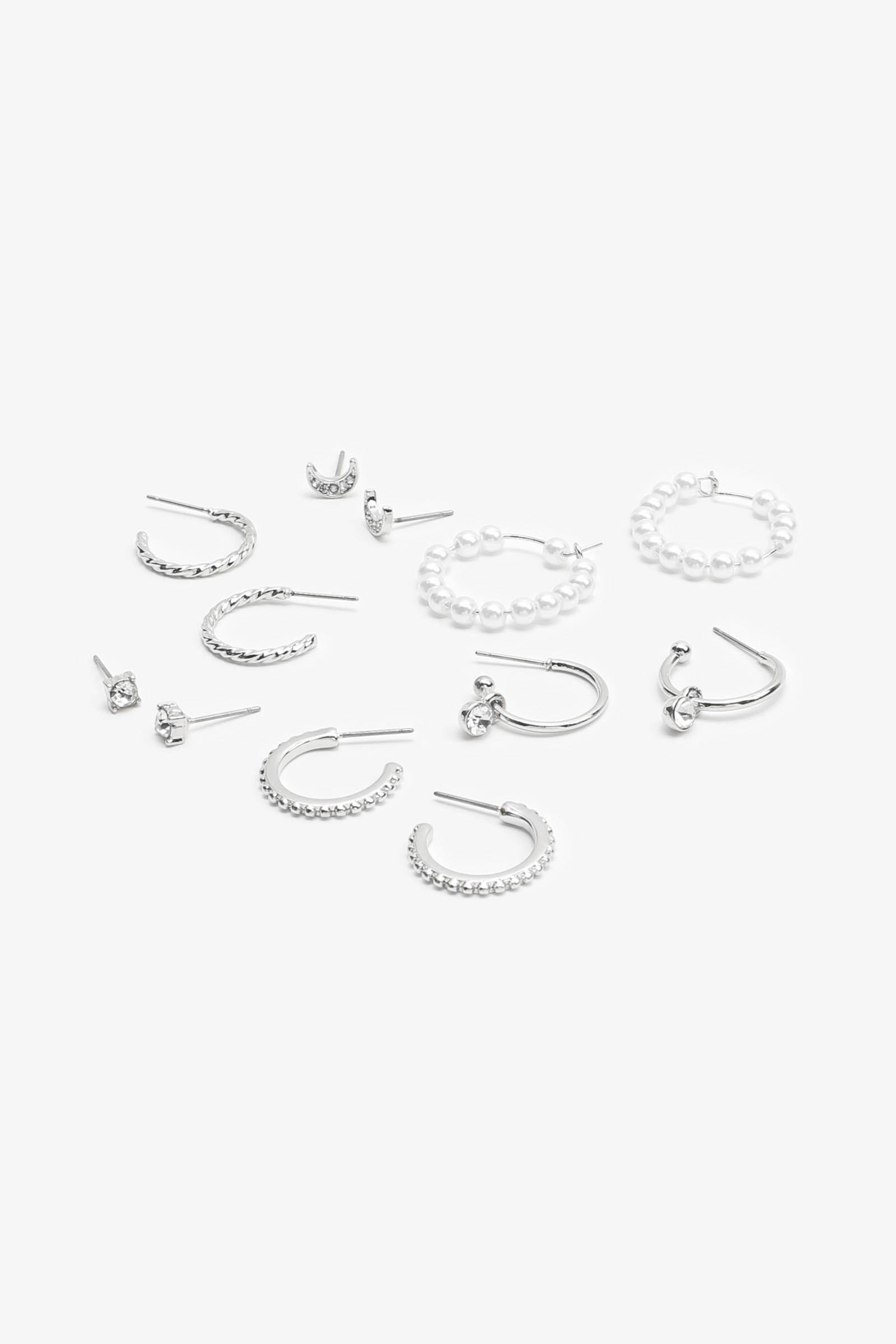 Pack of Hoops and Stud Earrings
