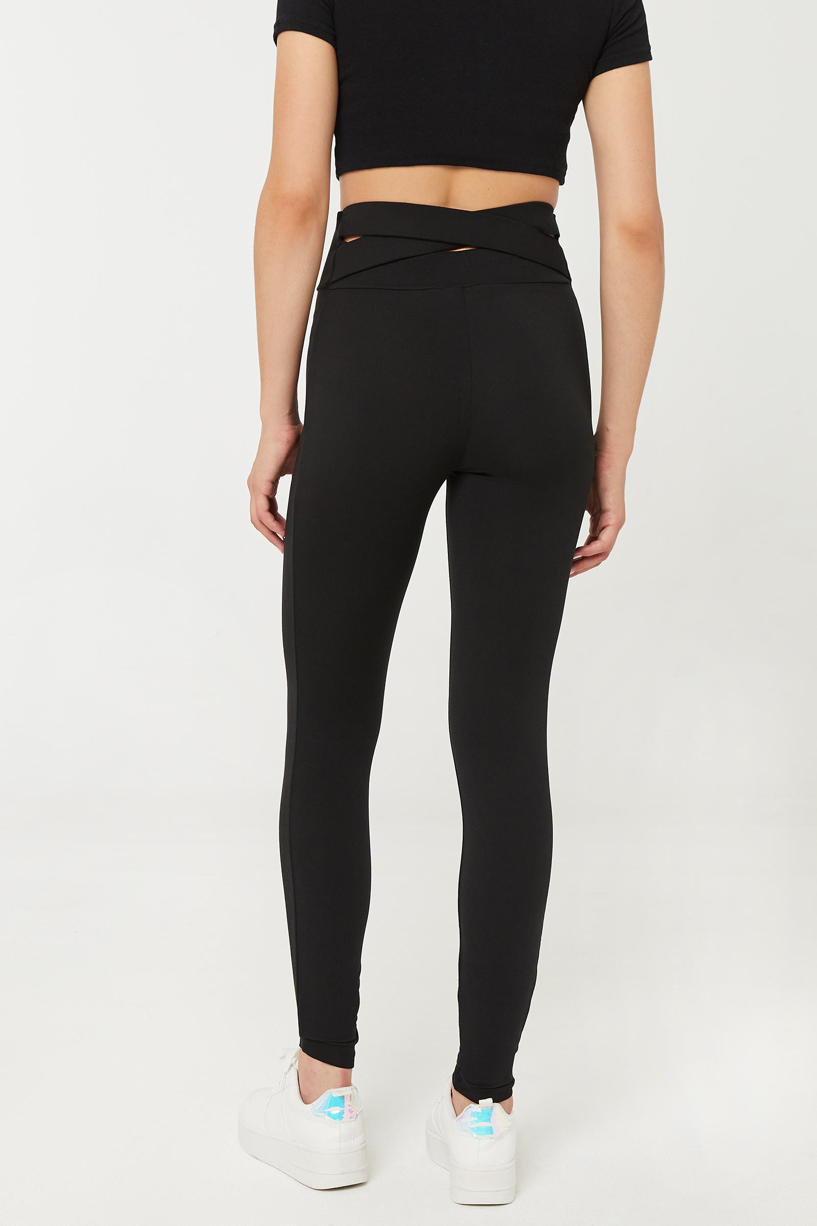 Leggings with Back Crossover