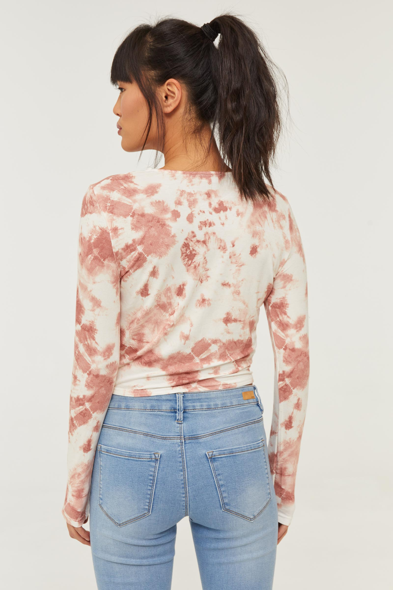 Knotted Tie-dye Tee