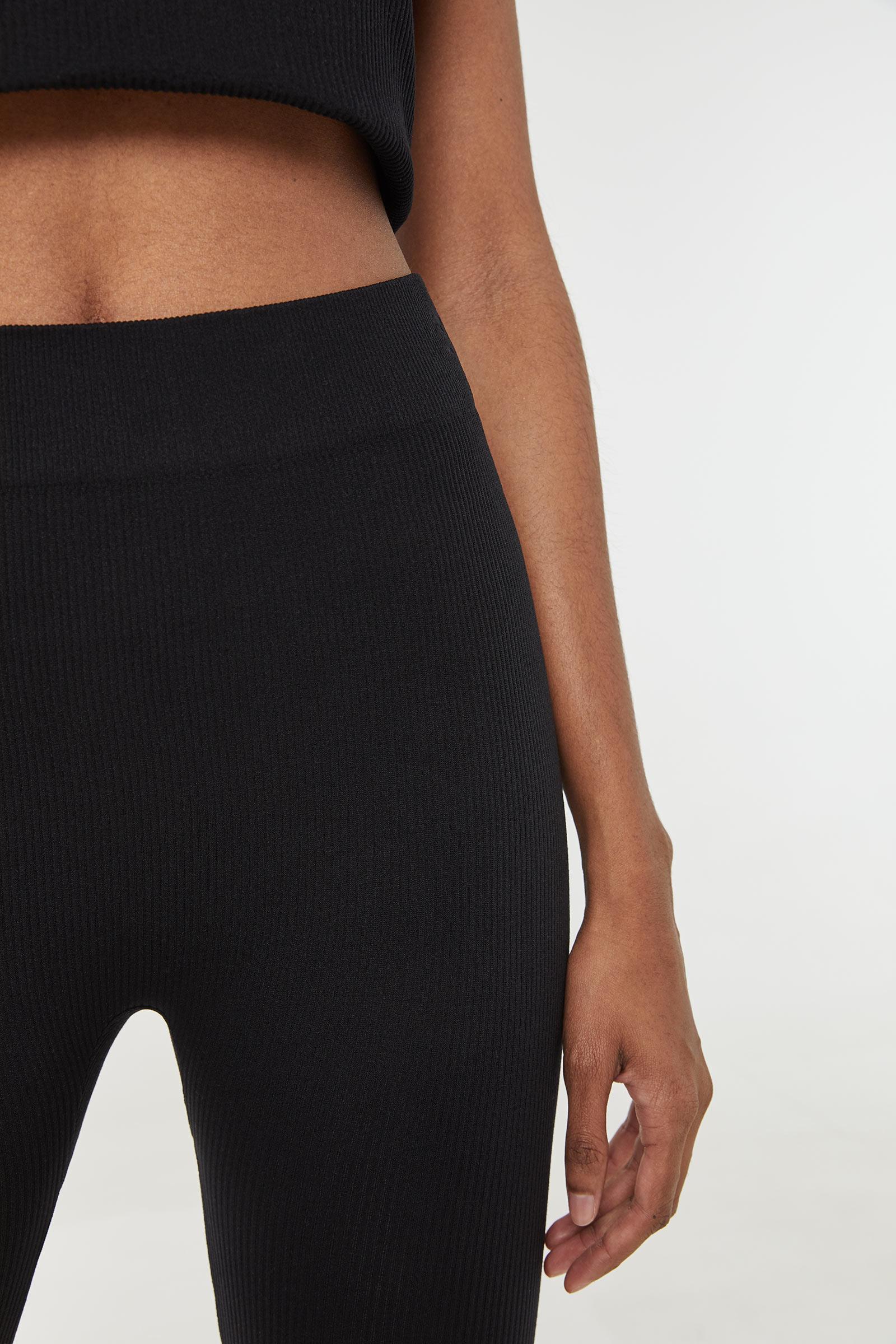 Basic Ribbed Biker Shorts
