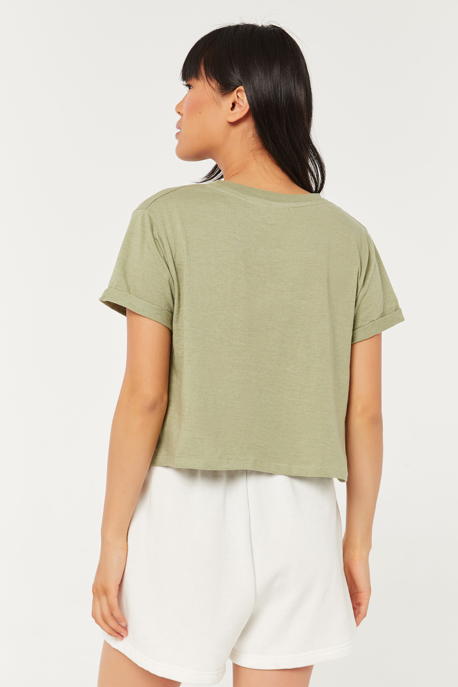 Recycled Boxy Crop T-shirt