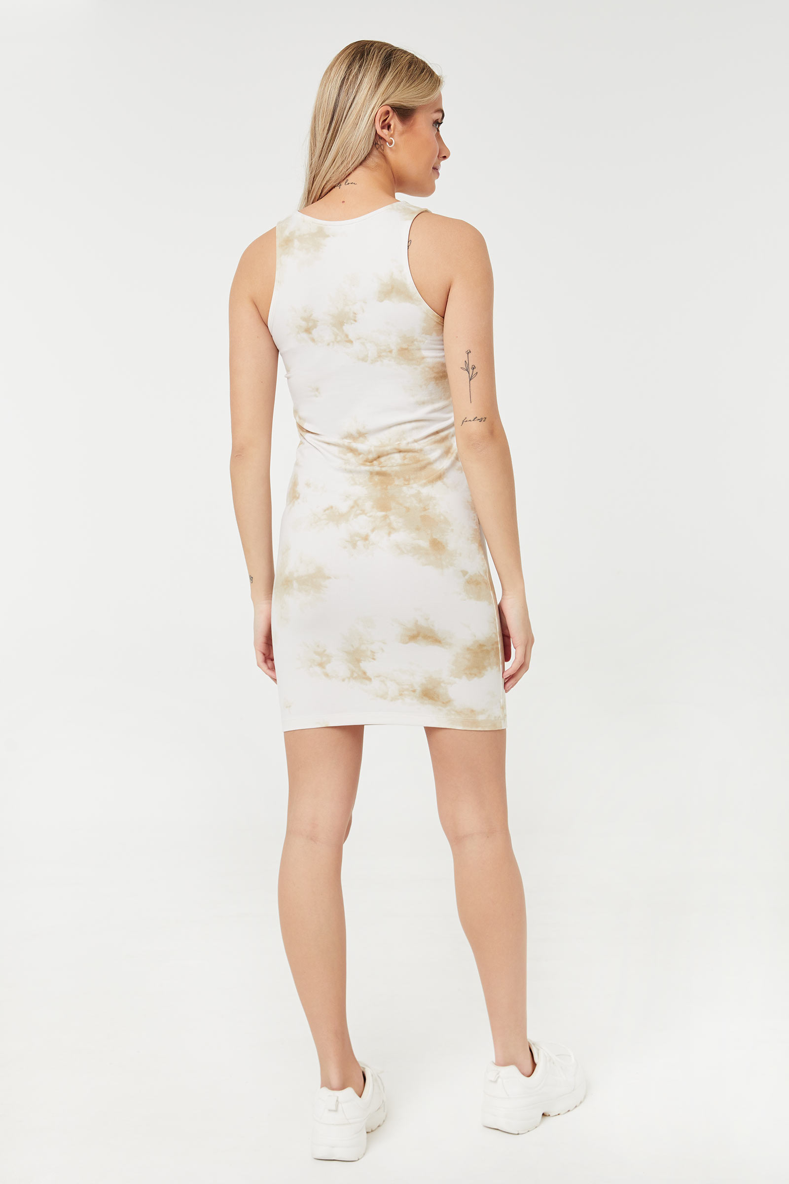 Basic Tie-Dye Bodycon Dress