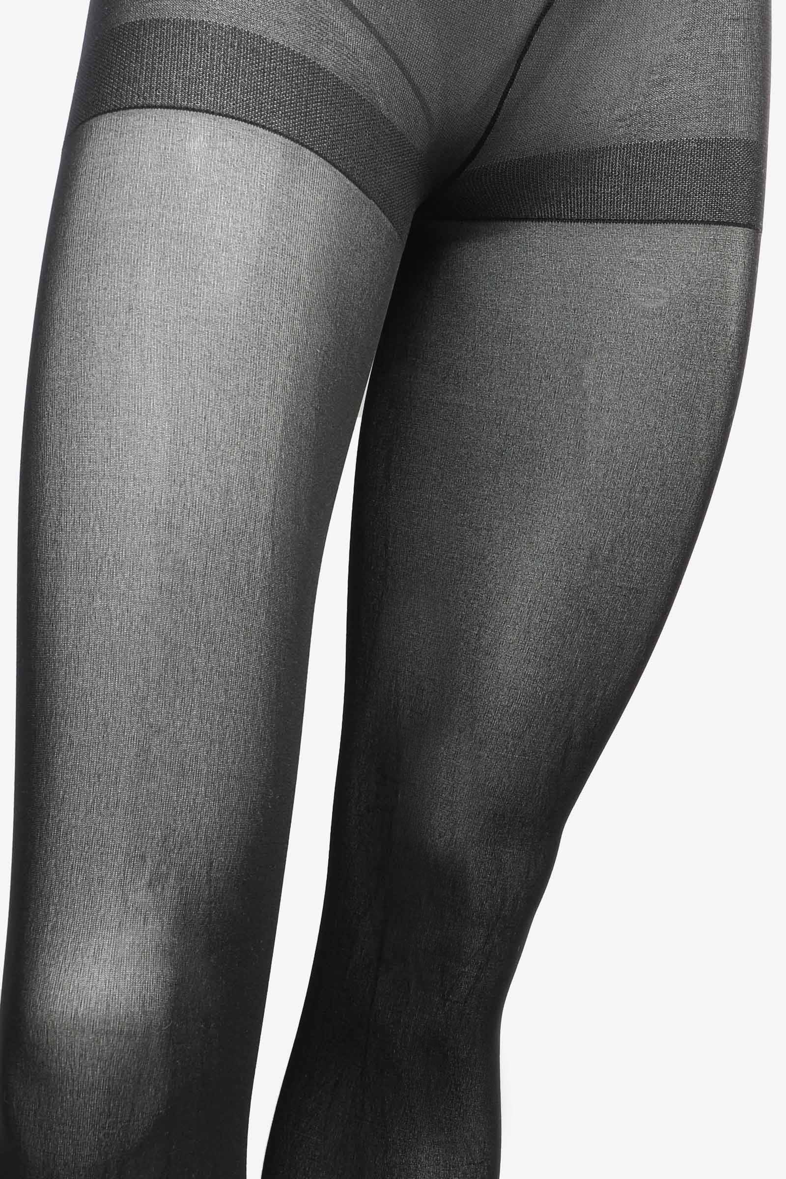 Semi-Opaque Tights with Control Top