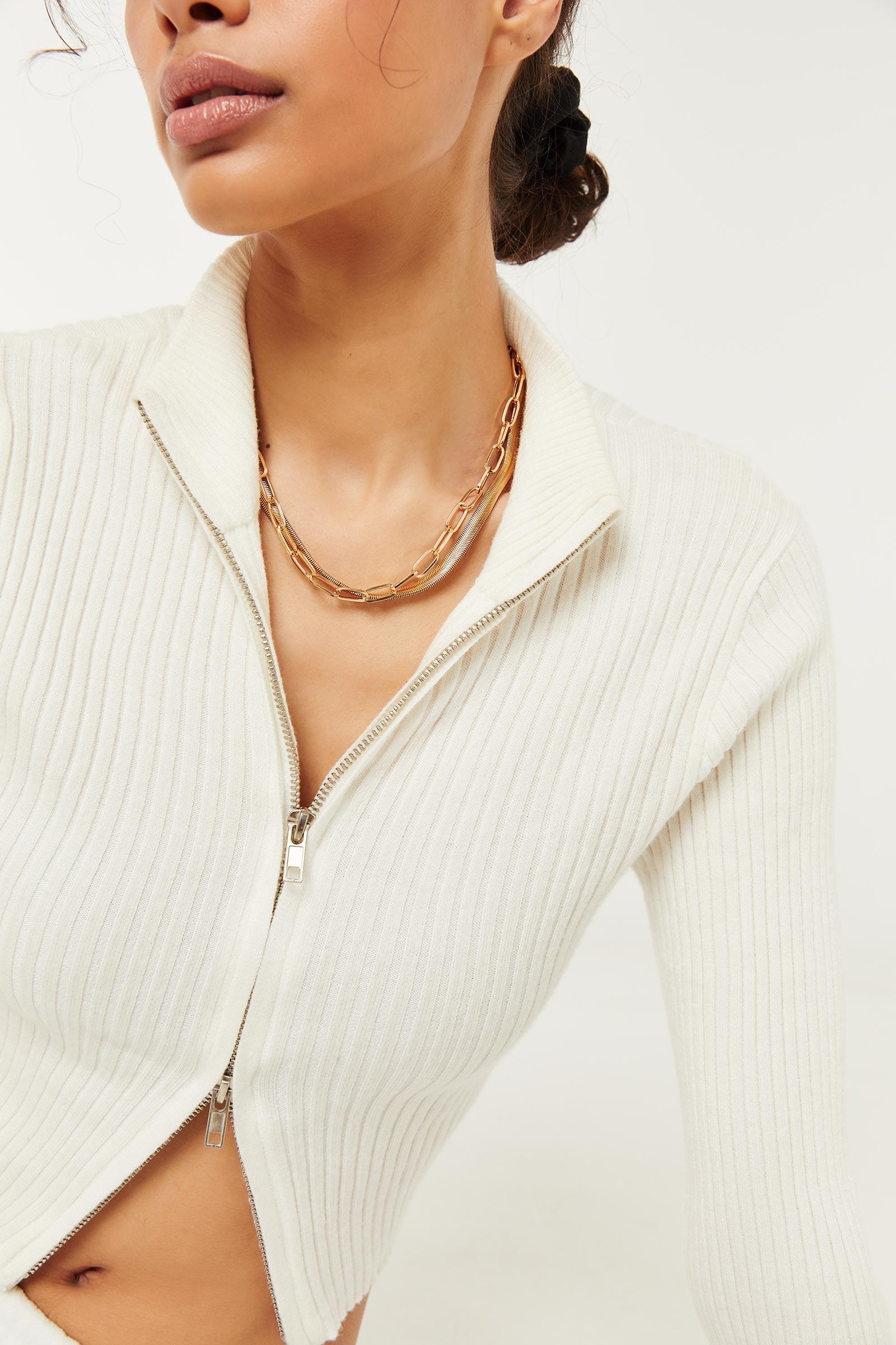 Multi-Strand Chain Necklace