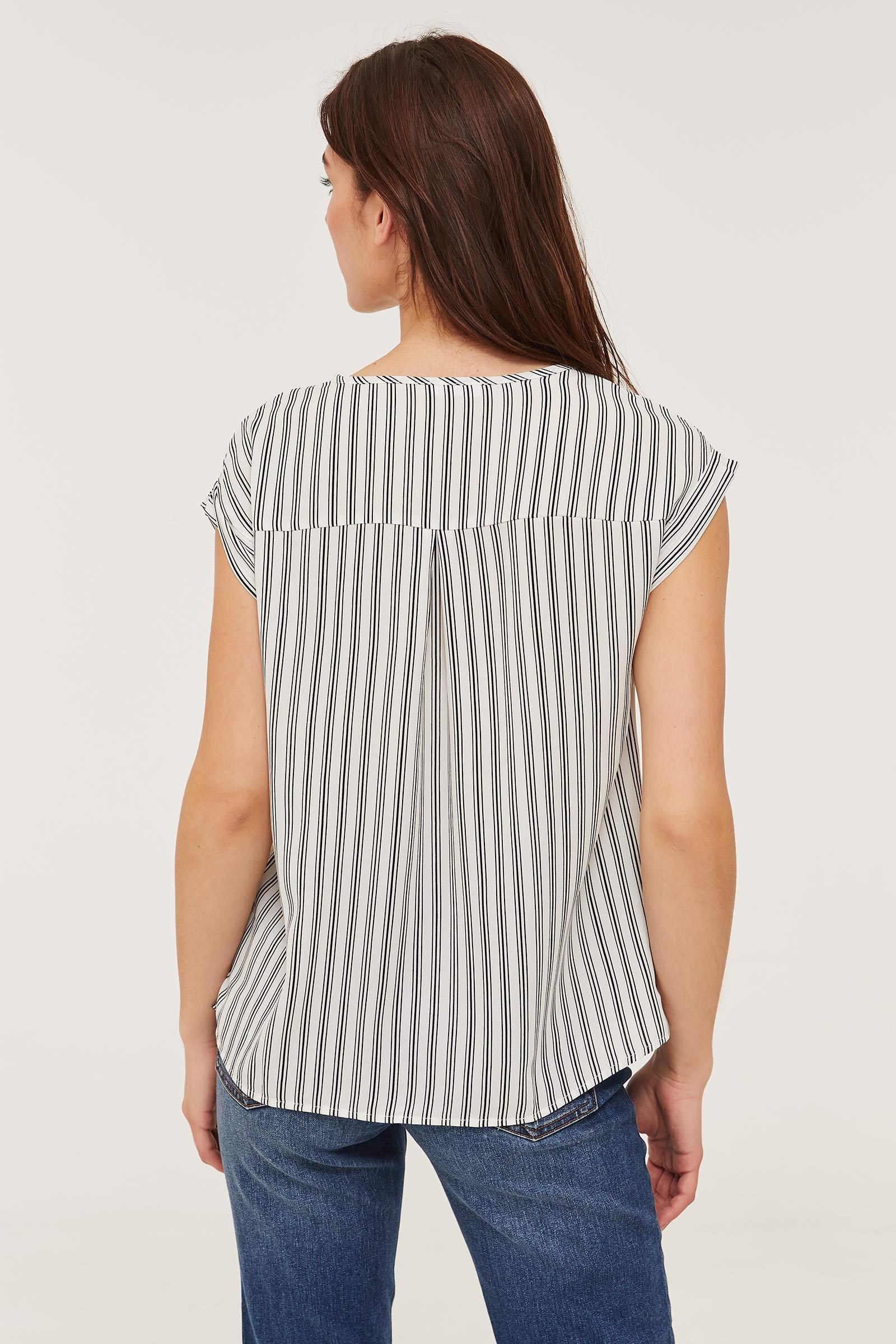 Striped Cap Sleeve Top