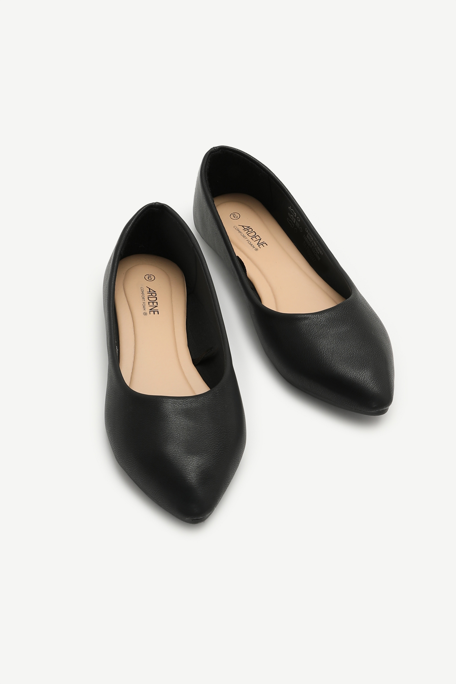 Faux Leather Pointy Flats