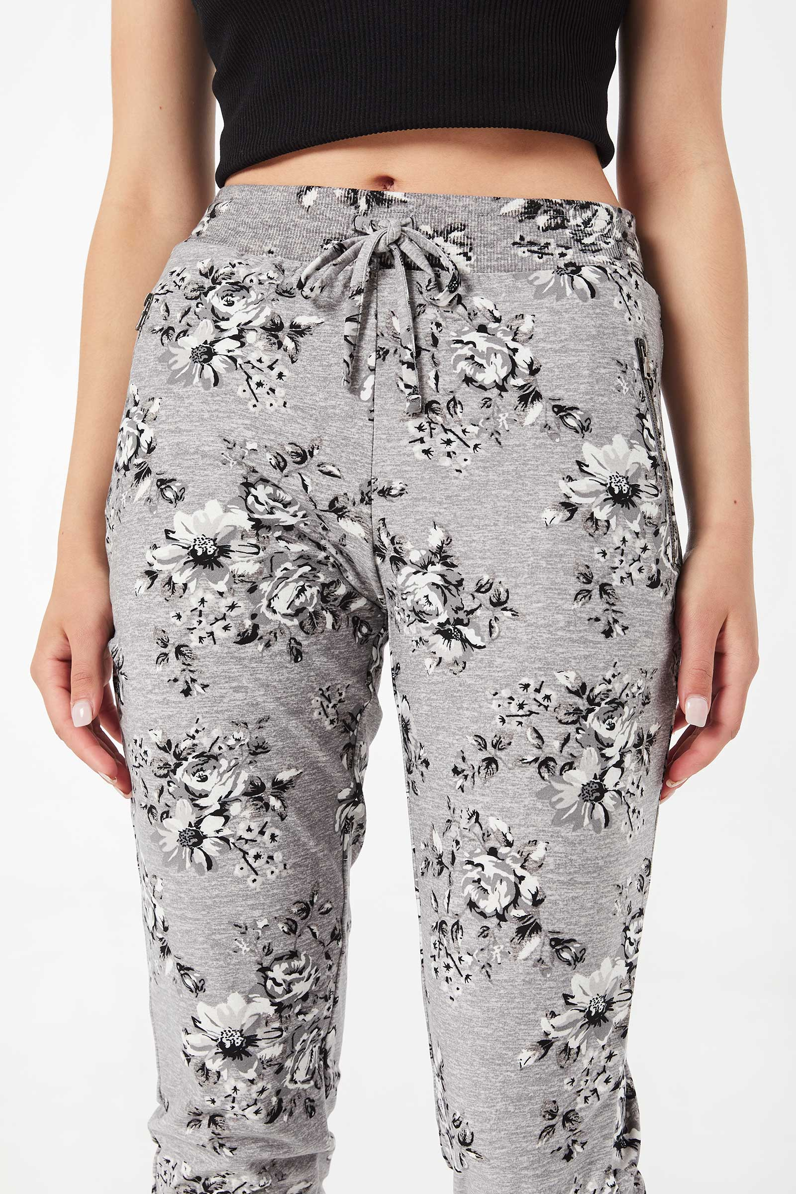 Slouchy Floral chambray Joggers