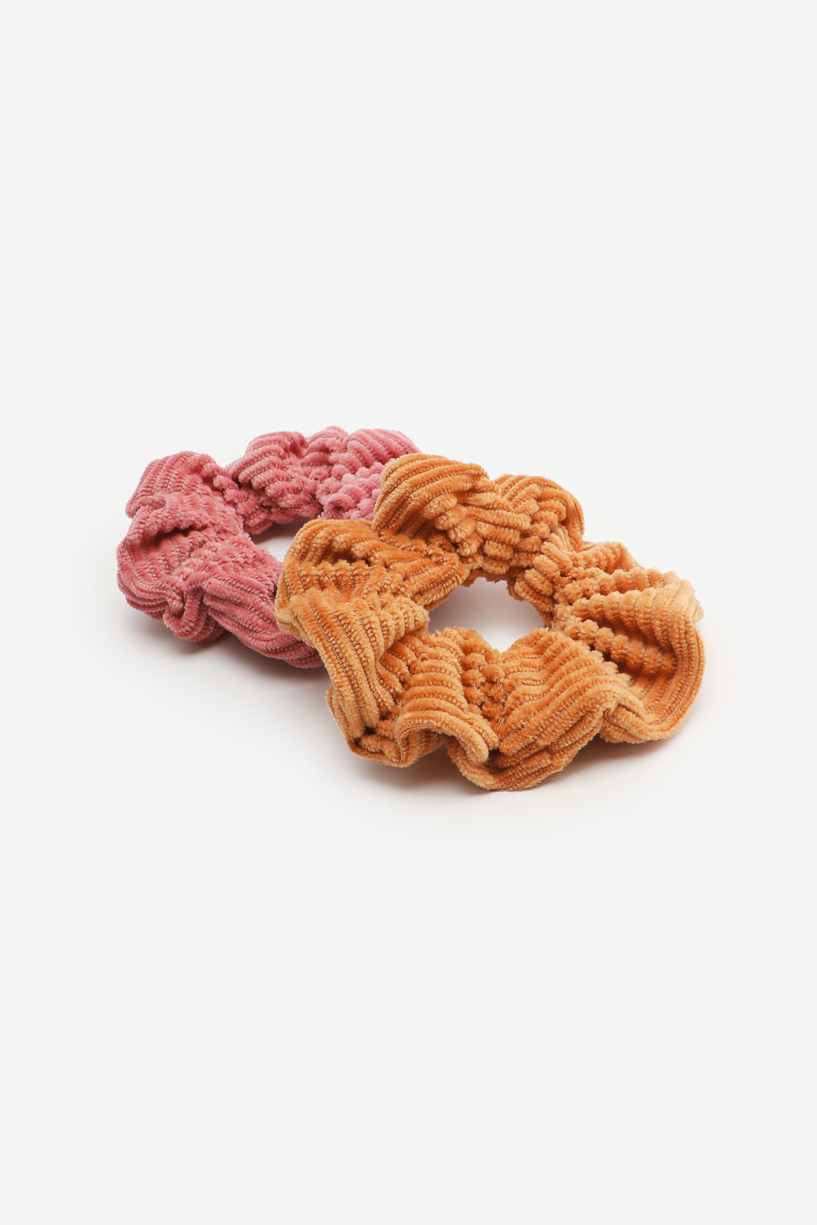 2-Pack Ribbed Scrunchies