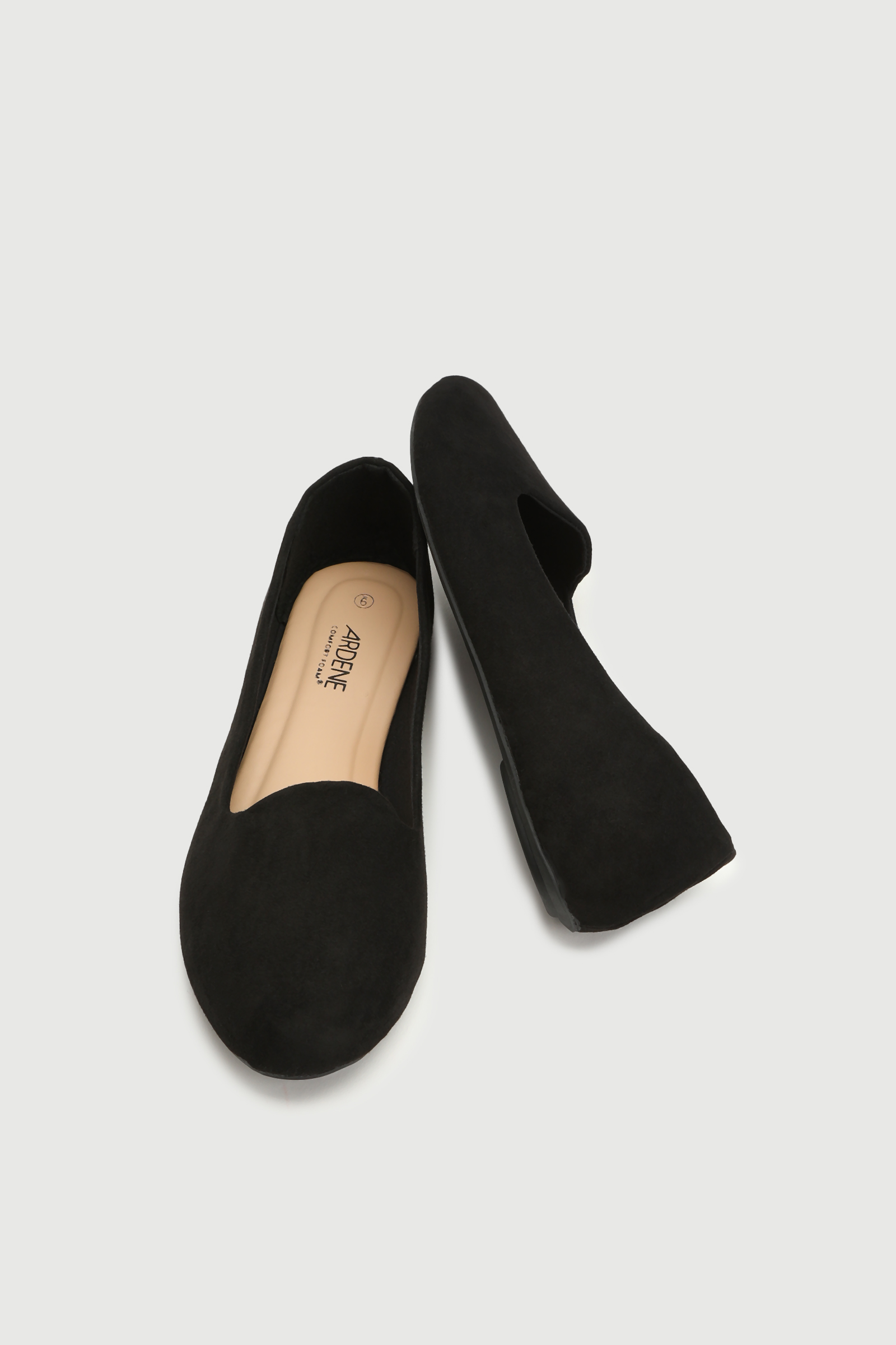 Faux Suede Slip-On Flats