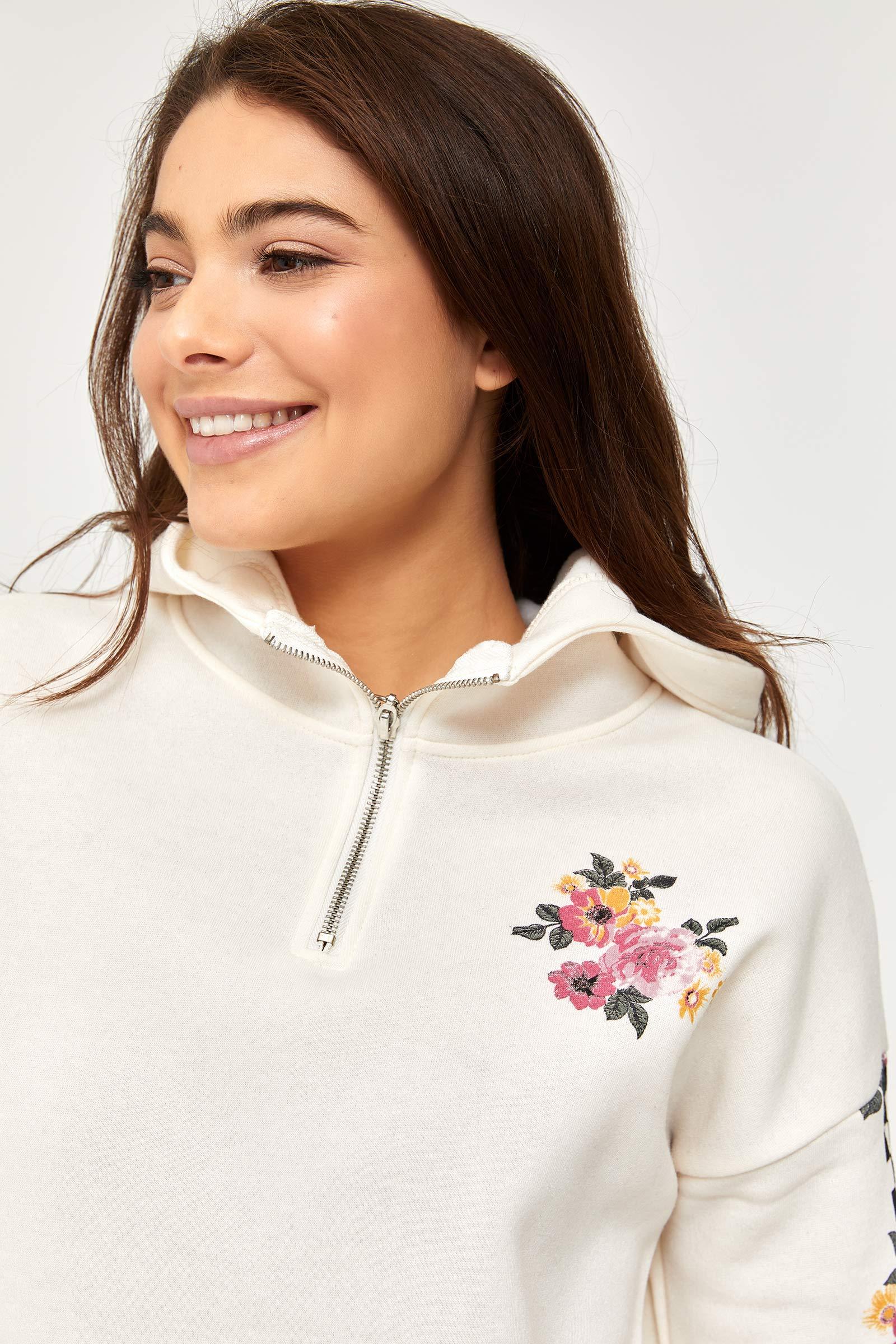 Gardenia Floral Hoodie
