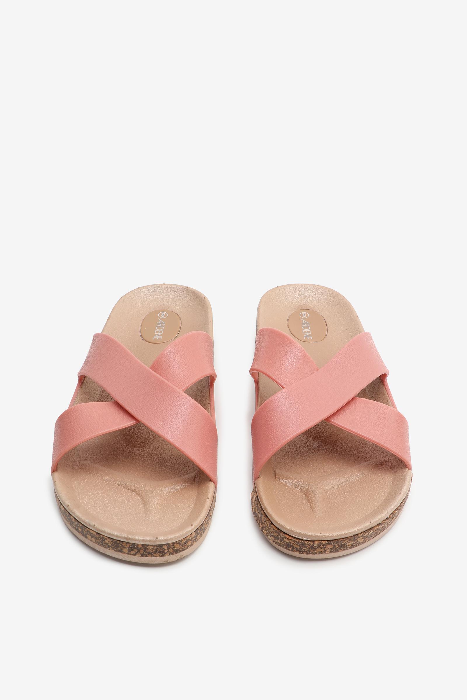 Sandales moulées croisées en liège