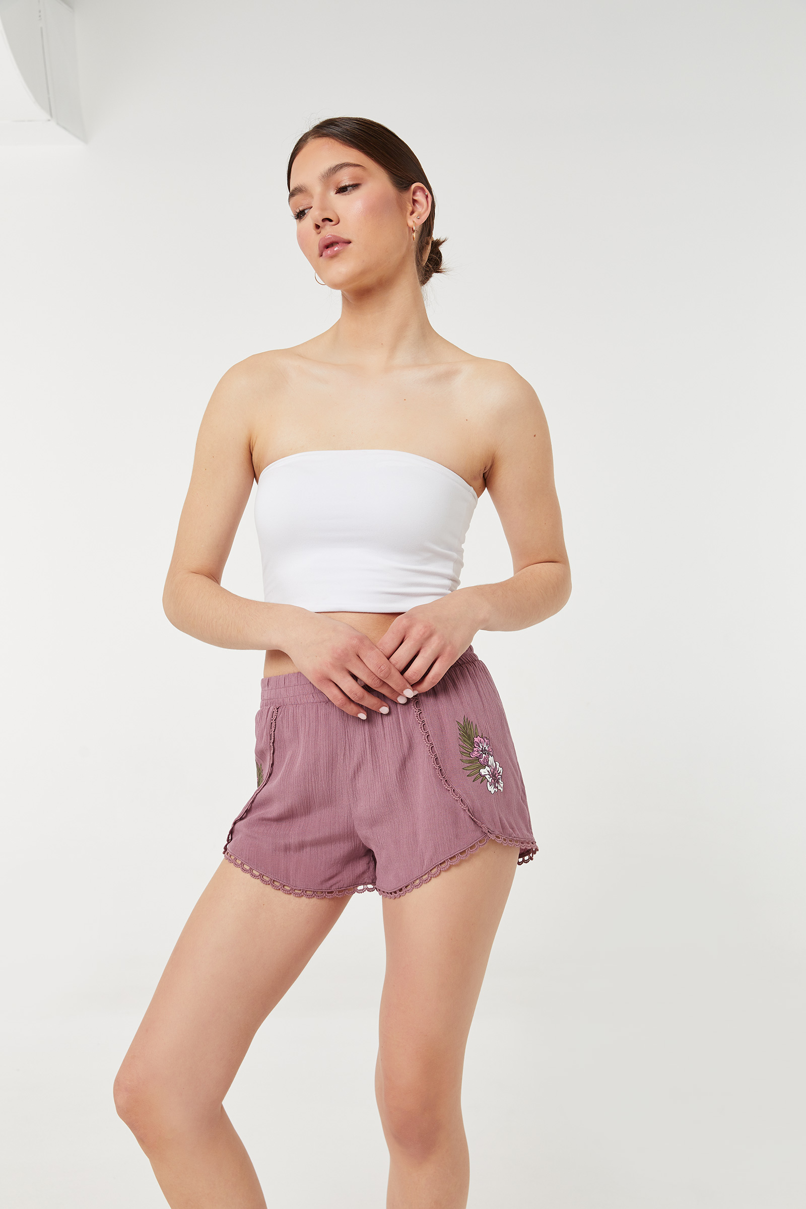 Crochet Shorts with Embroidery