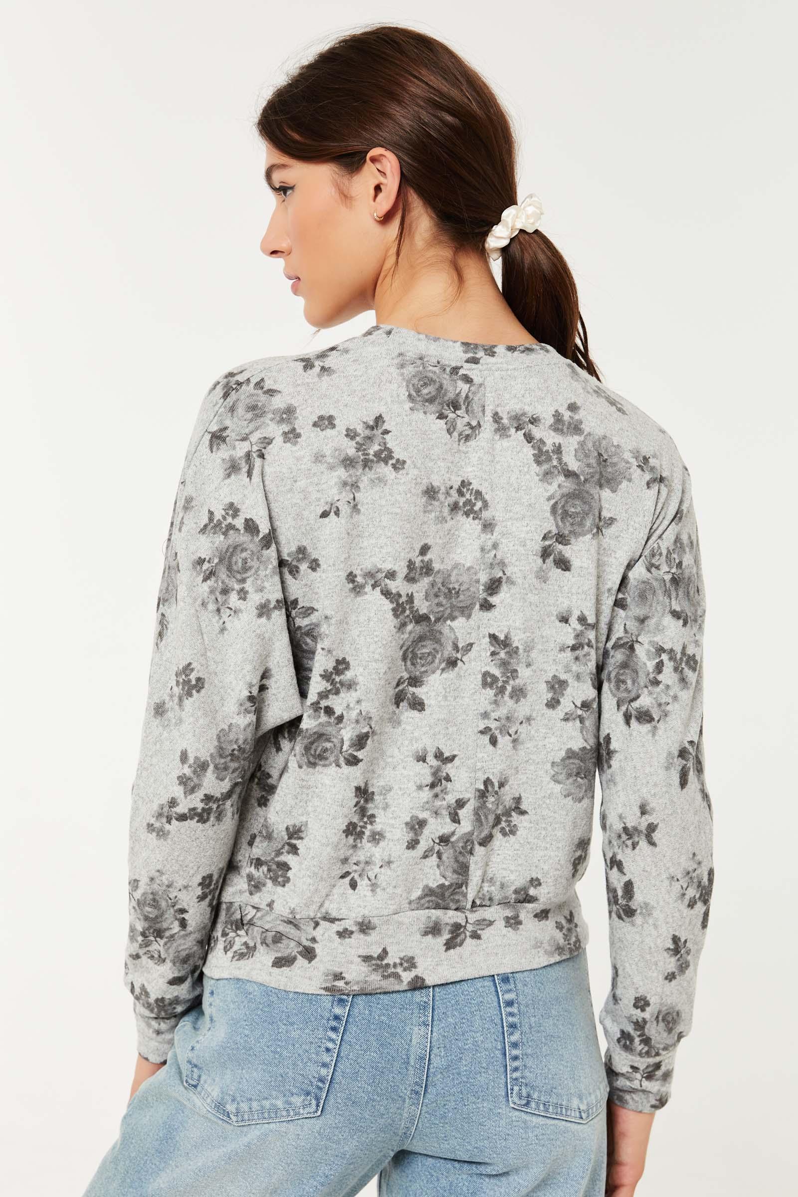 Chandail dolman fleuri