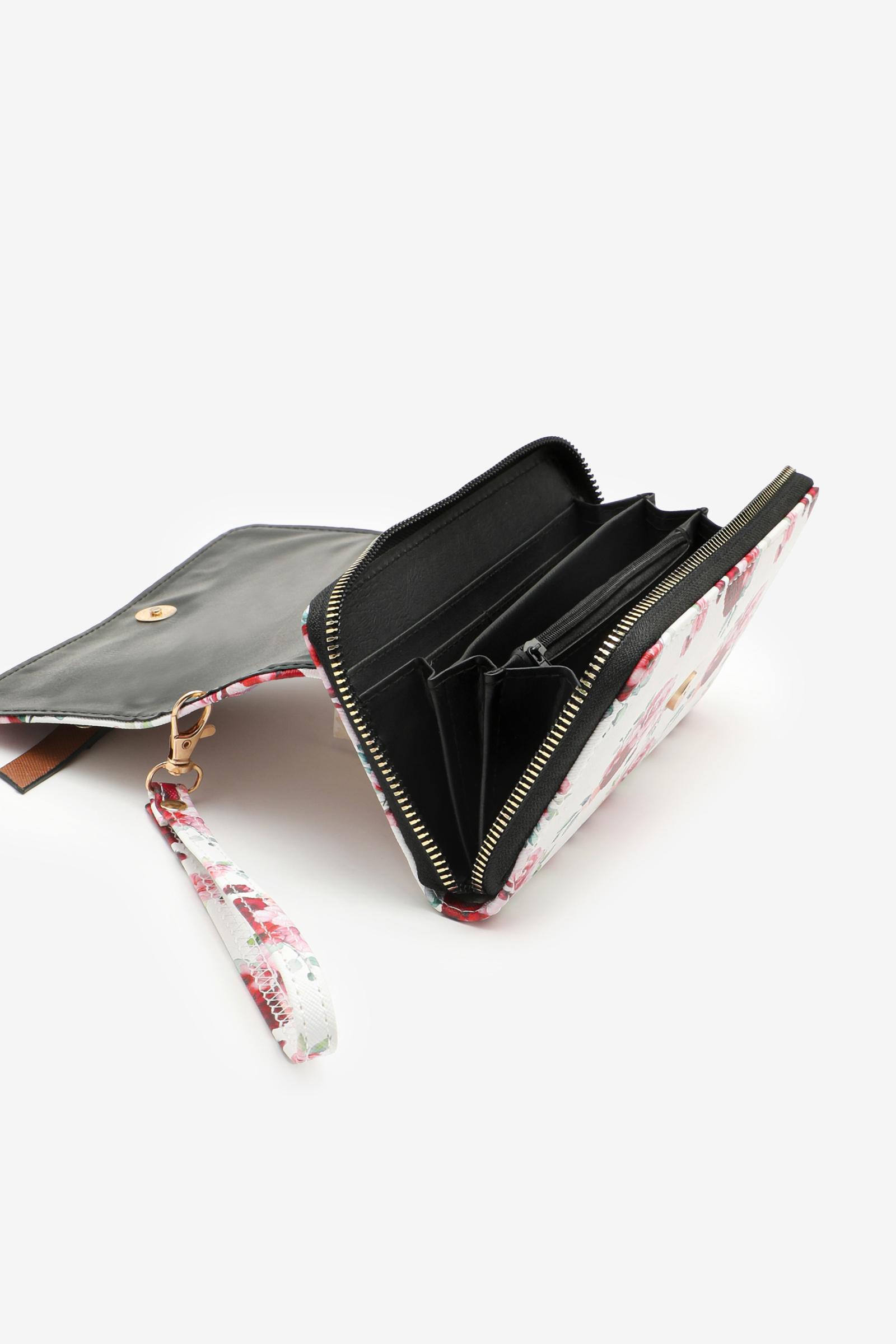 Portefeuille en faux cuir à rabat