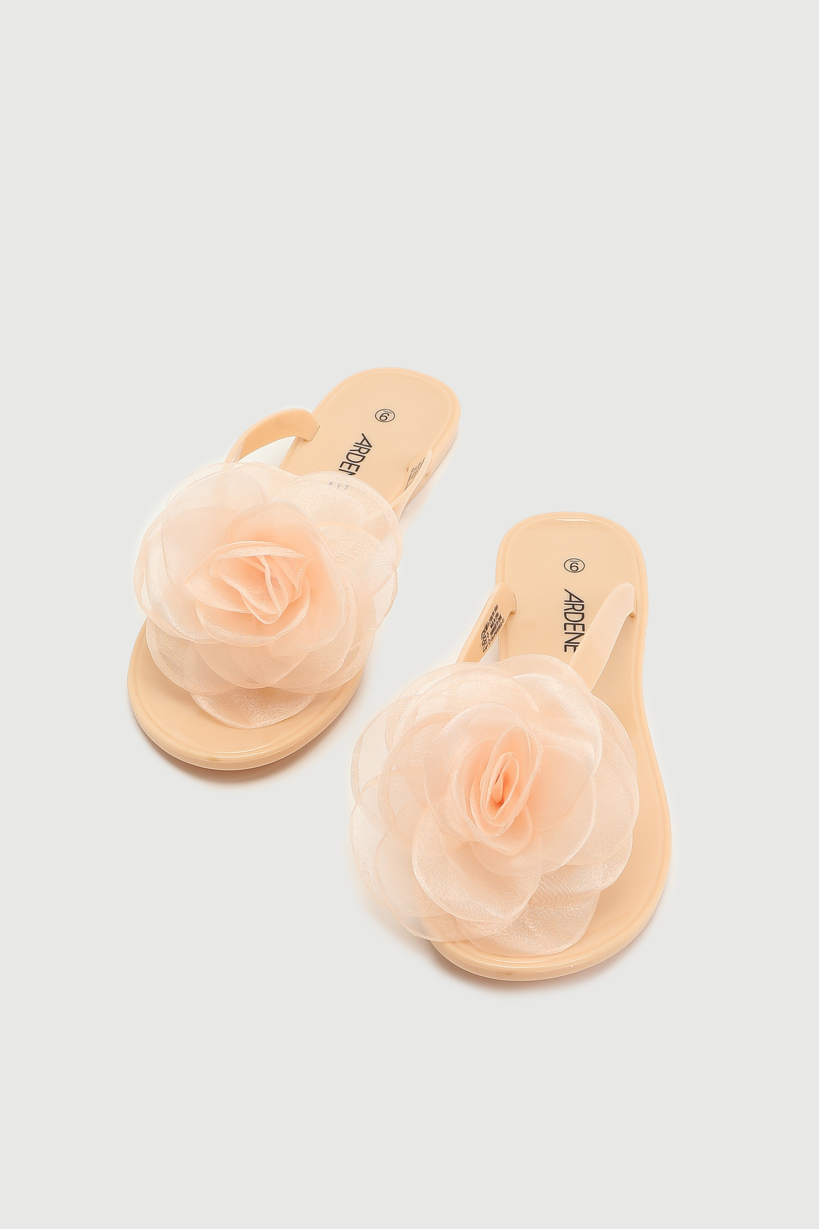 Jelly Flip-Flops with Rose