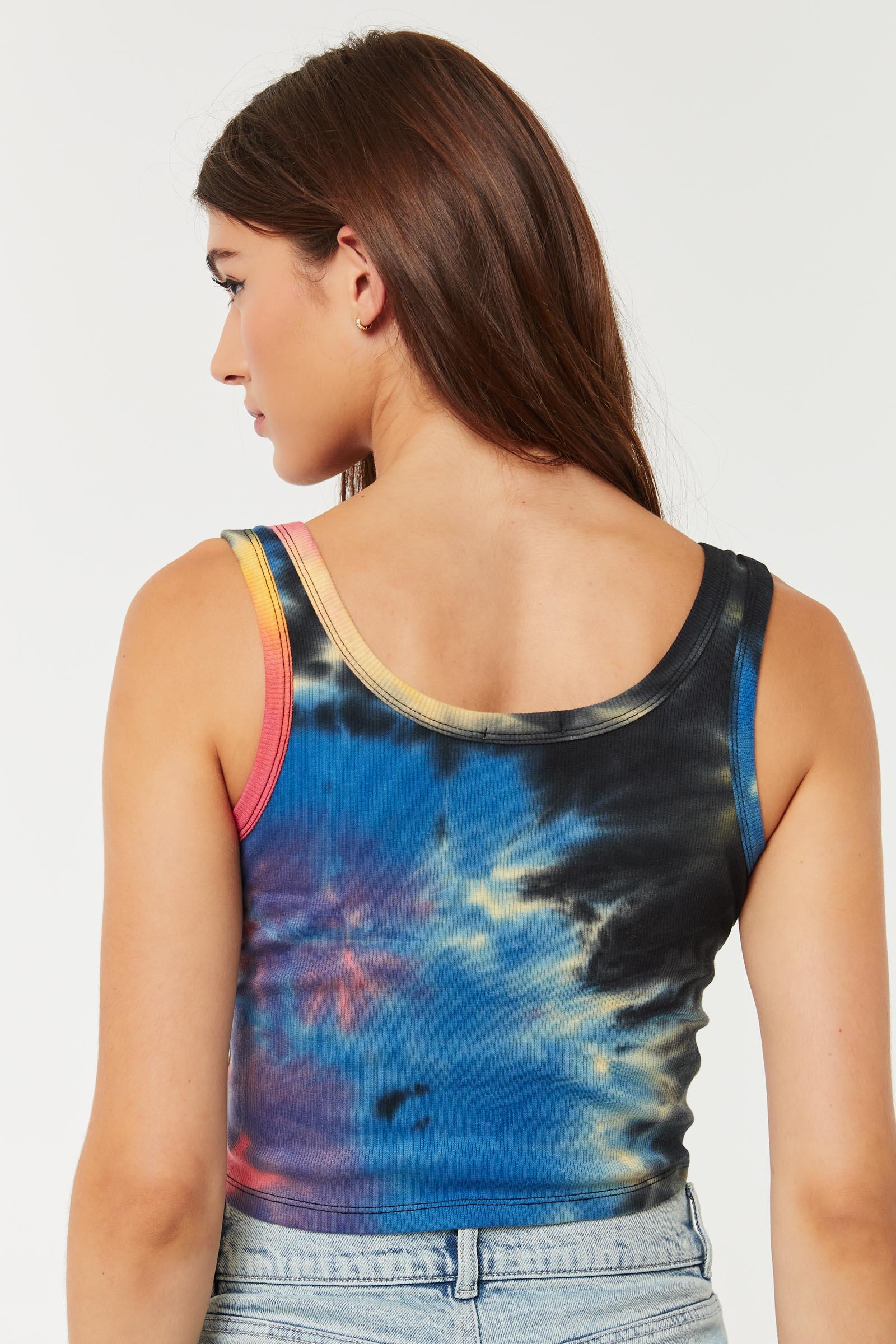 Cami côtelée tie-dye