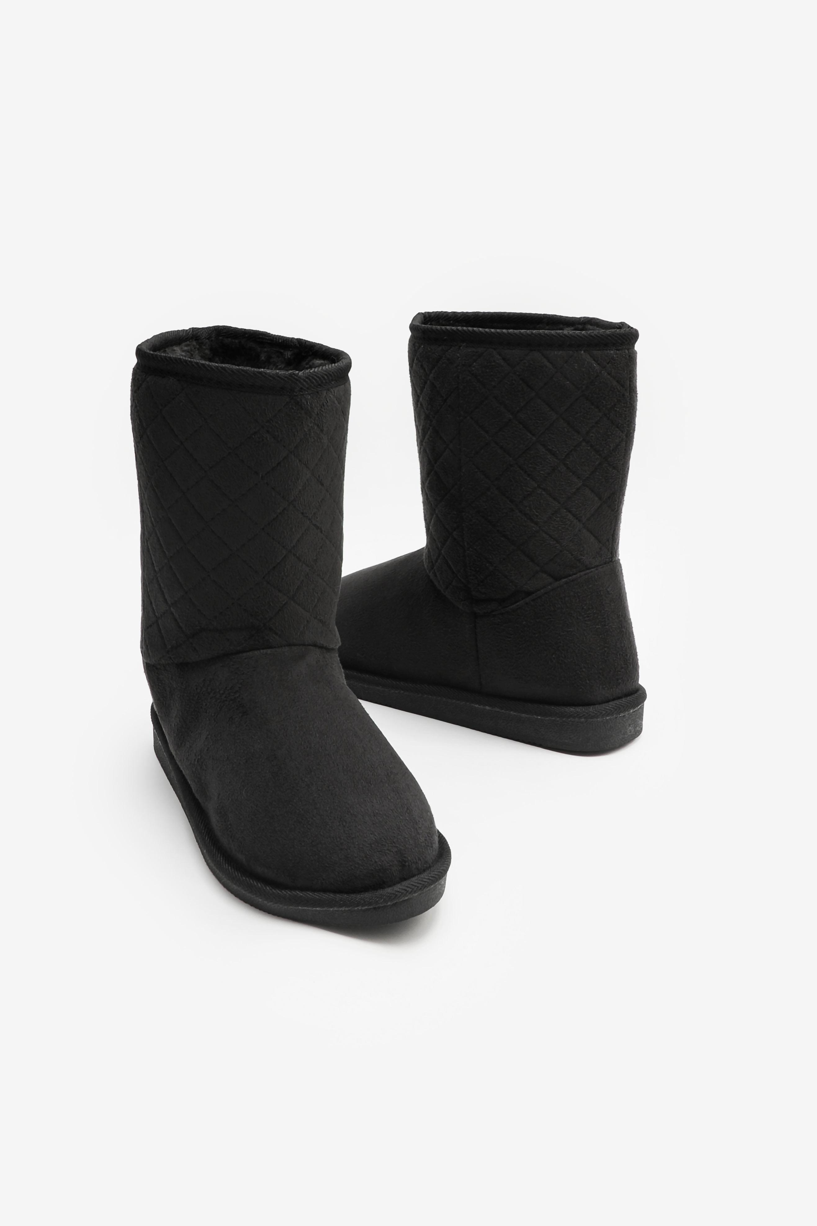 Chevron Faux Shearling Boots