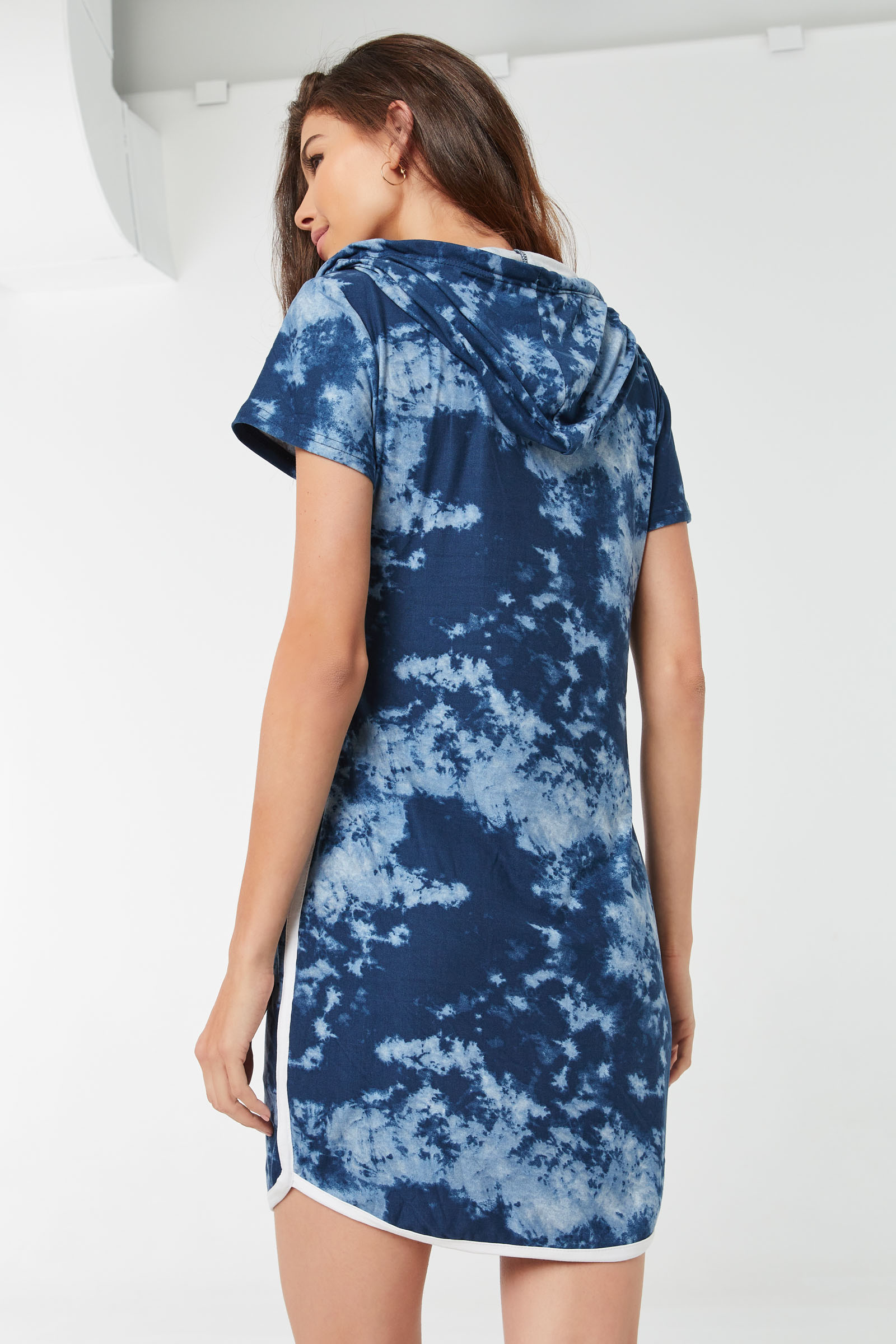 Tie-Dye Mini Hoodie Dress