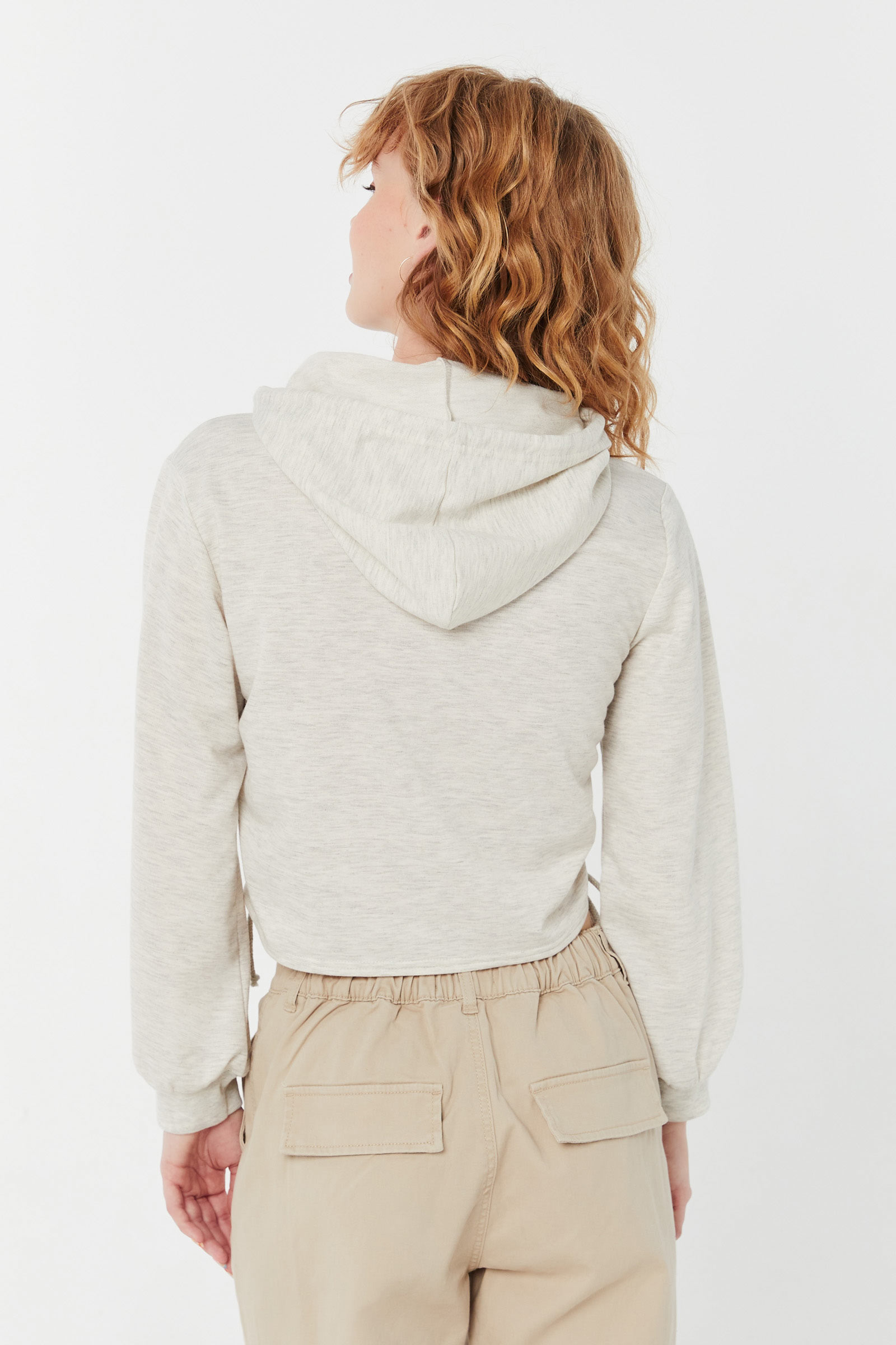Ruched French Terry Hoodie