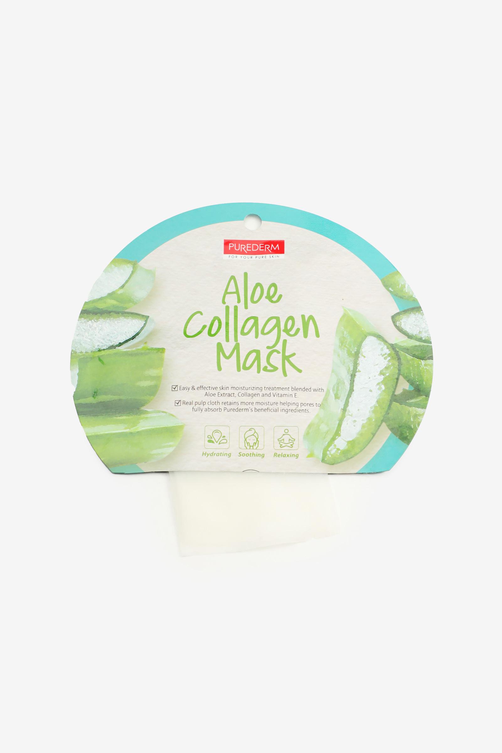 Masque en feuille à l'aloès