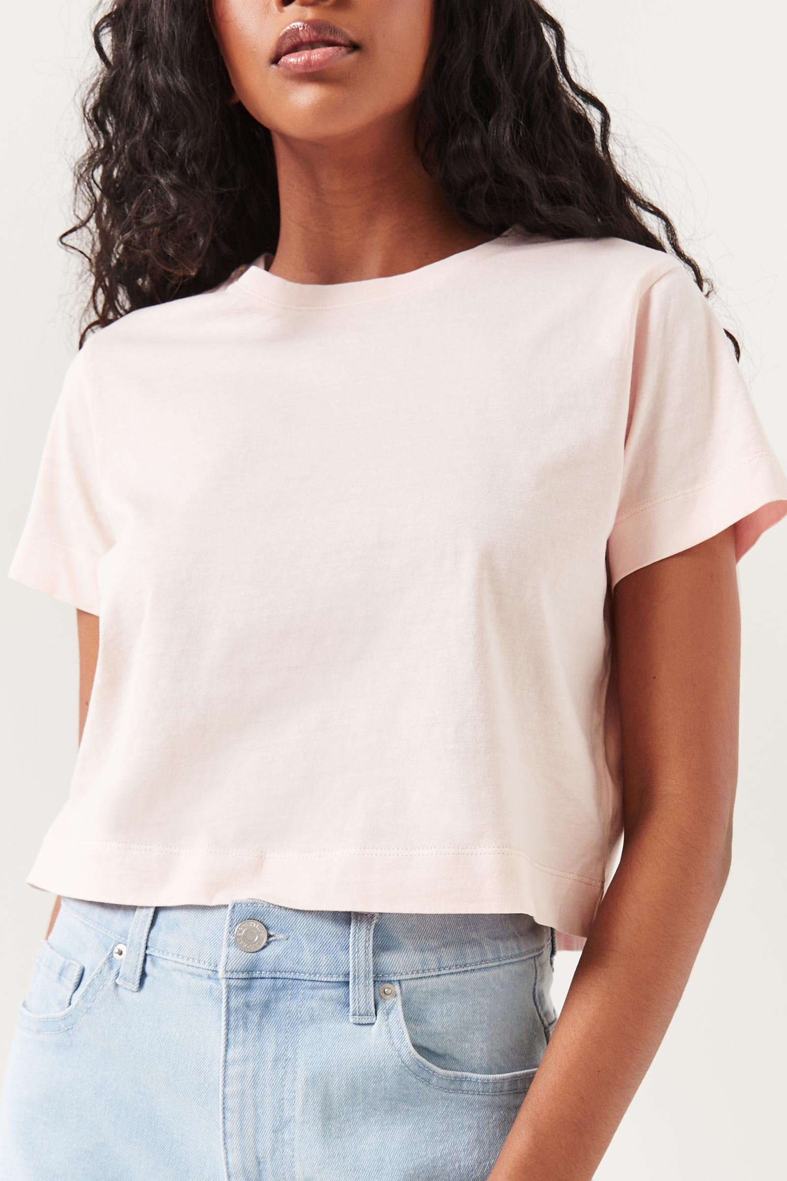 T-shirt court délavé