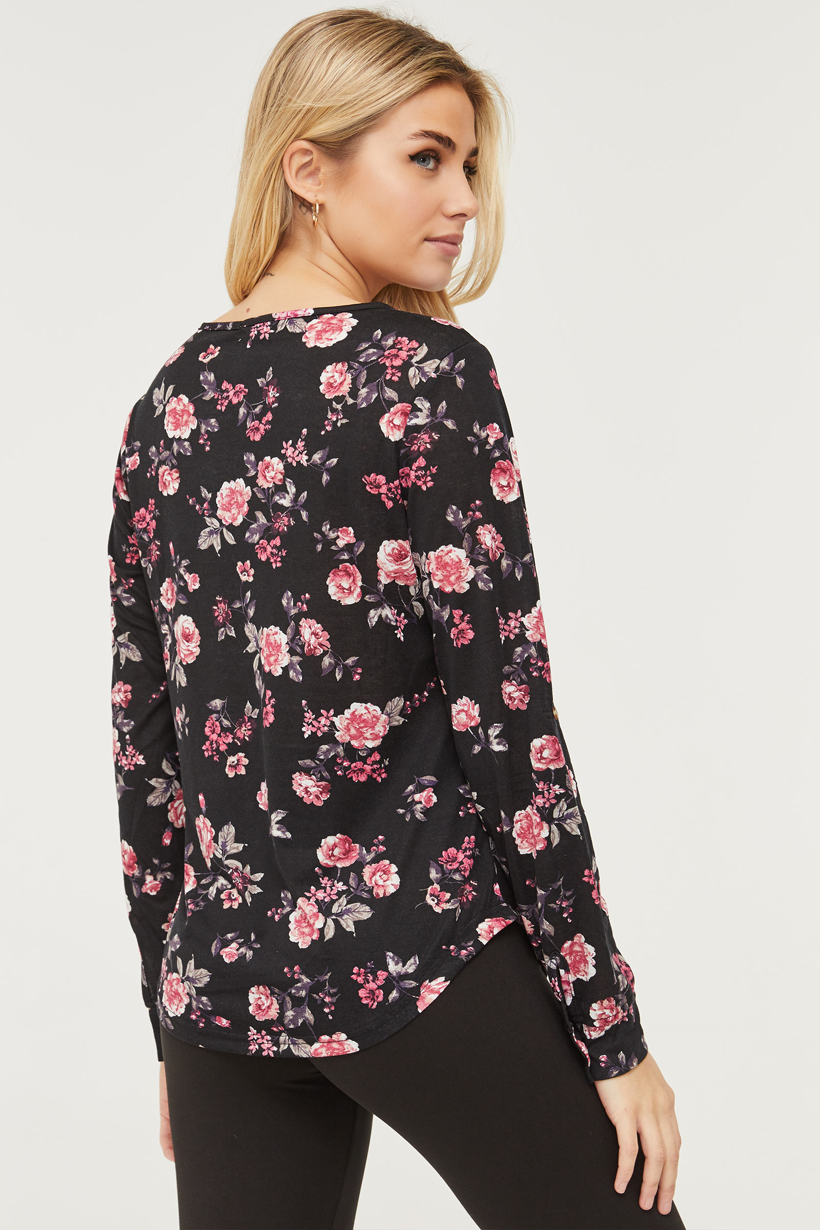 Zipped Floral Top