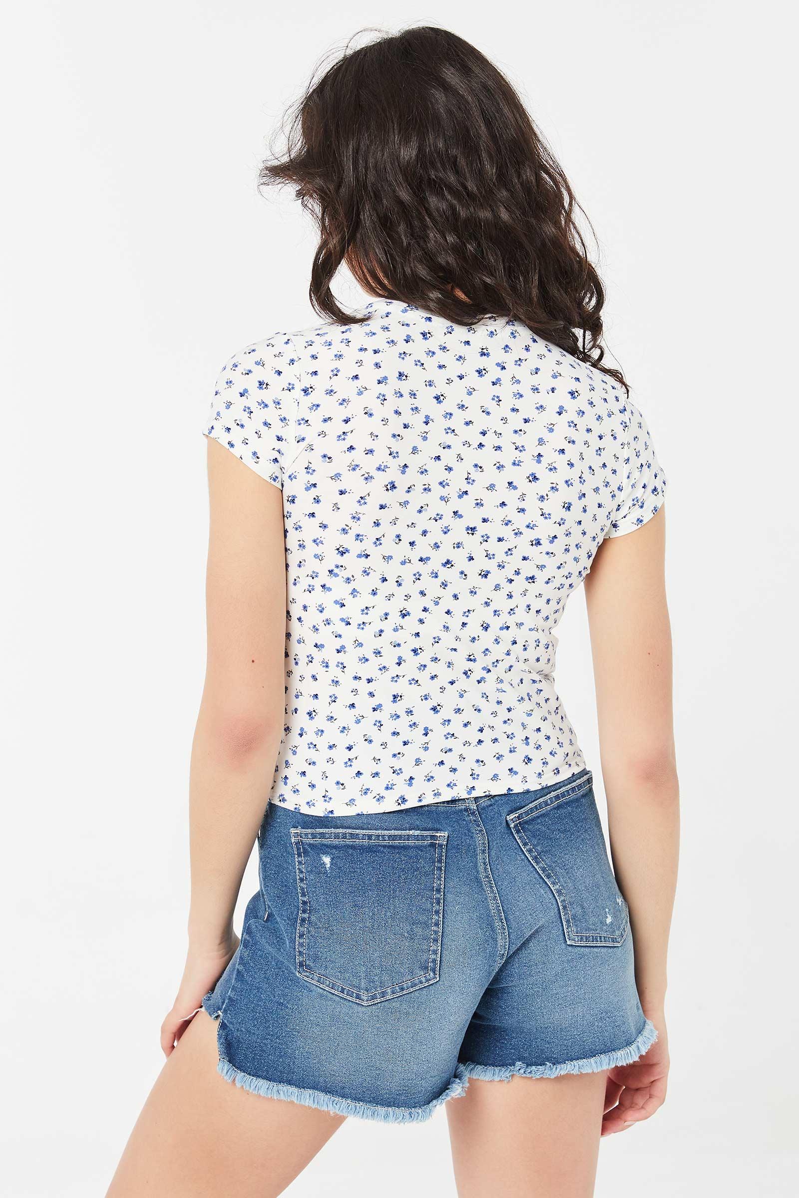 Floral Crop T-shirt